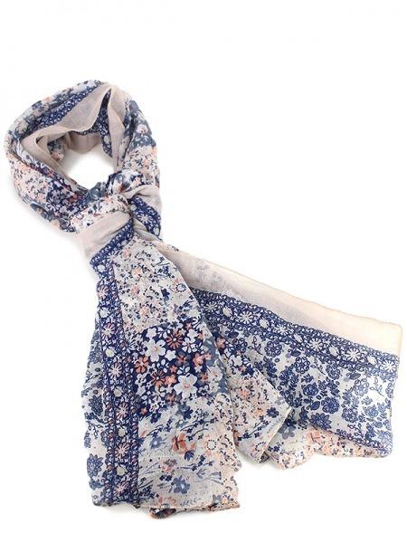 Liberty Blue Blue Foulard Liberty FashionCendriyon Foulard FashionCendriyon ZikXPu