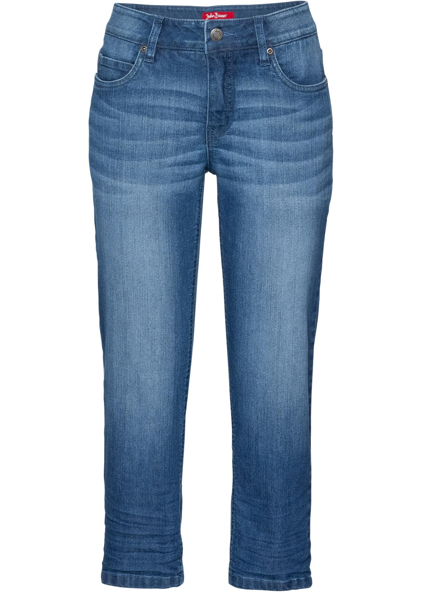Femme BonprixJean Extensible Jeanswear Longueur 3 Bleu Pour John Baner Confort 4 rdQCtshxB