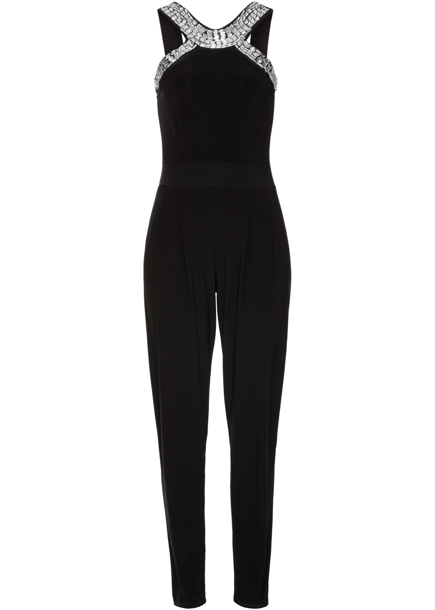 Boutique Sans Femme Pour Noir BonprixCombinaison Avec Bijoux Bodyflirt Manches Pierres b6yY7vfg