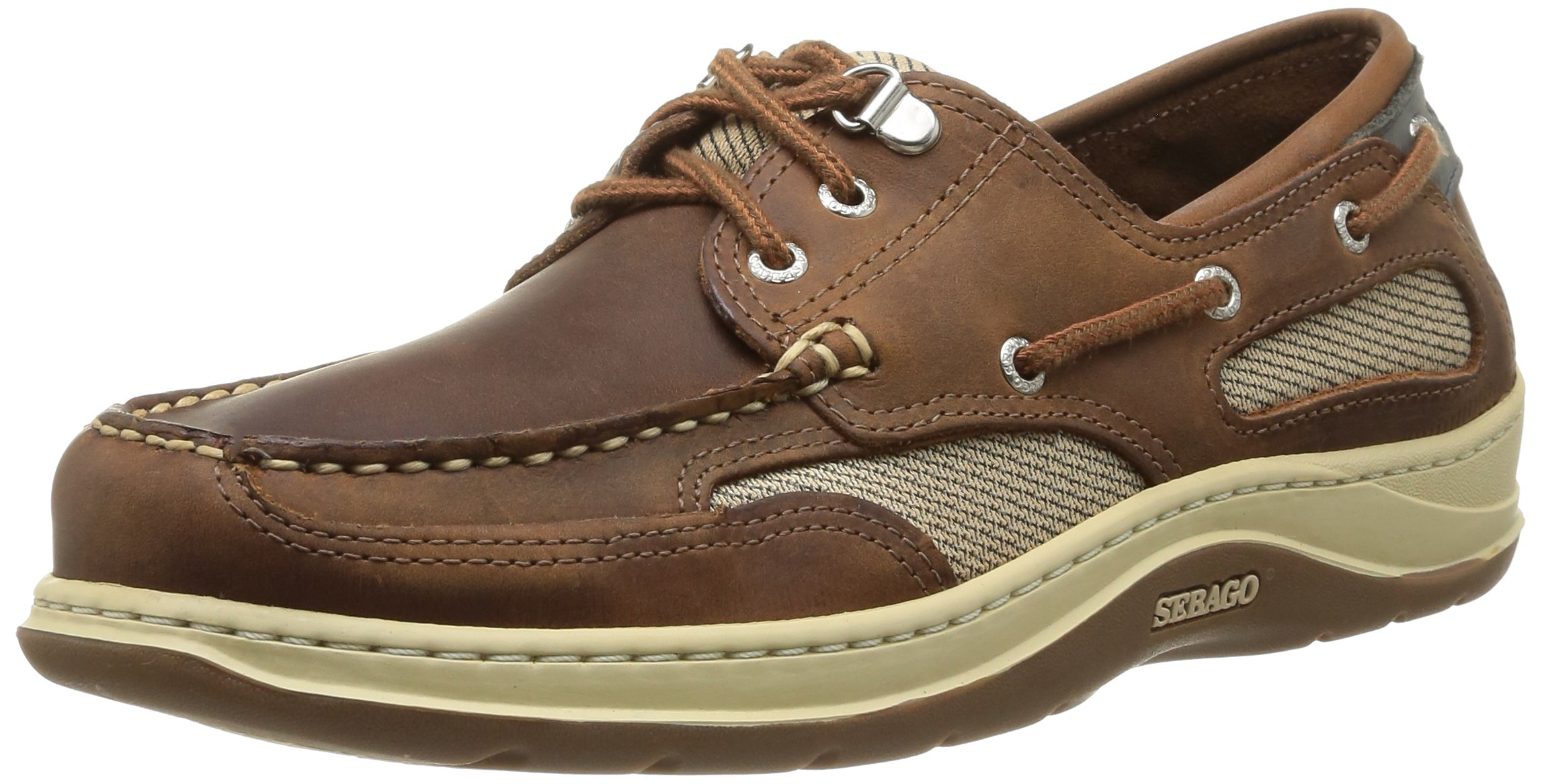 Homme Eu Sebago Leather41 Clovehitch IiChaussures 5 Marronwalnut Bateau kPXTOuZi
