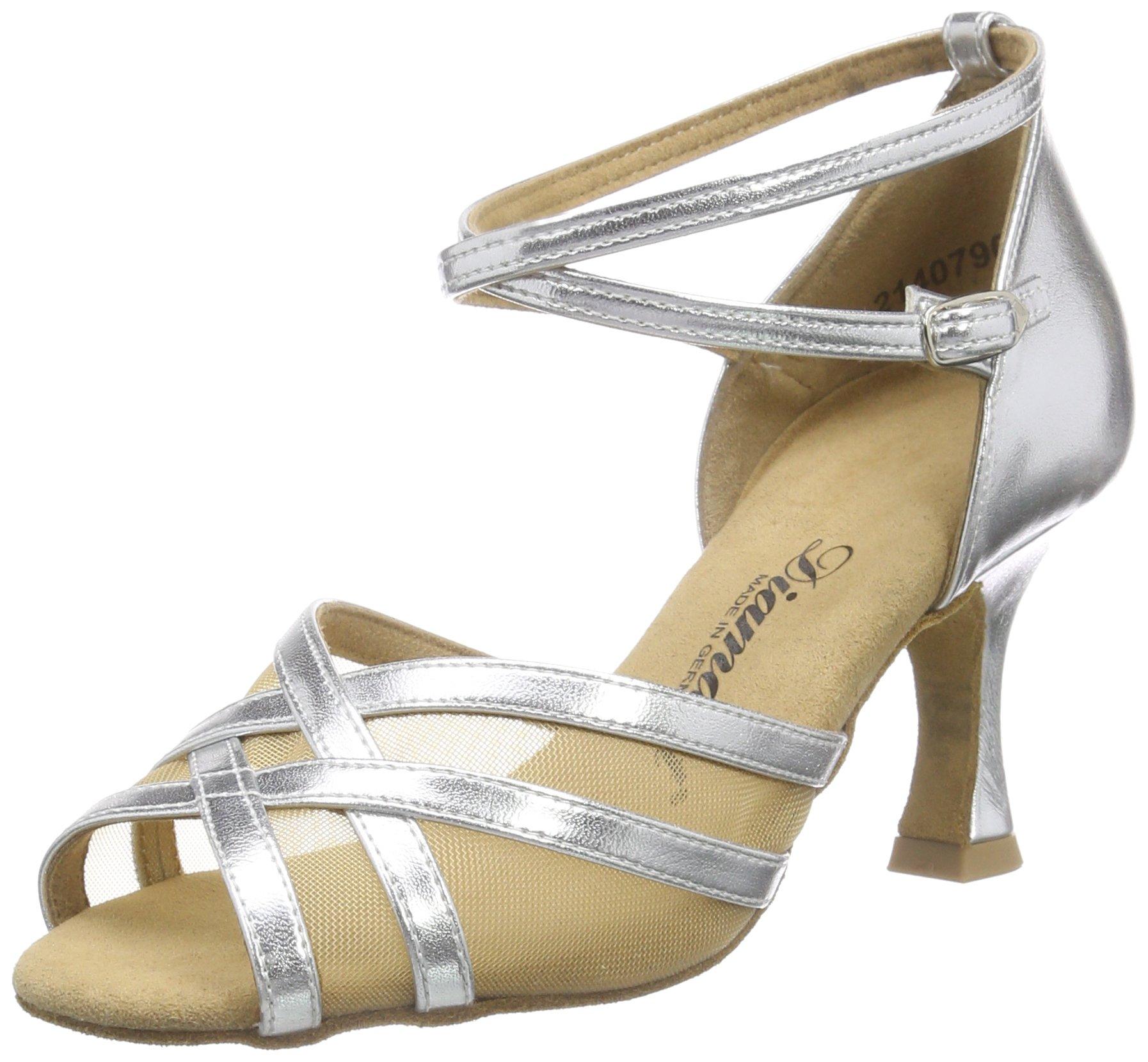 Femme 5 Argentsilber42 013Chaussures Eu8 Salon 035 Danse Diamant Uk Latein 2 3 Tanzschuhe De 087 Damen QCxdtsrh