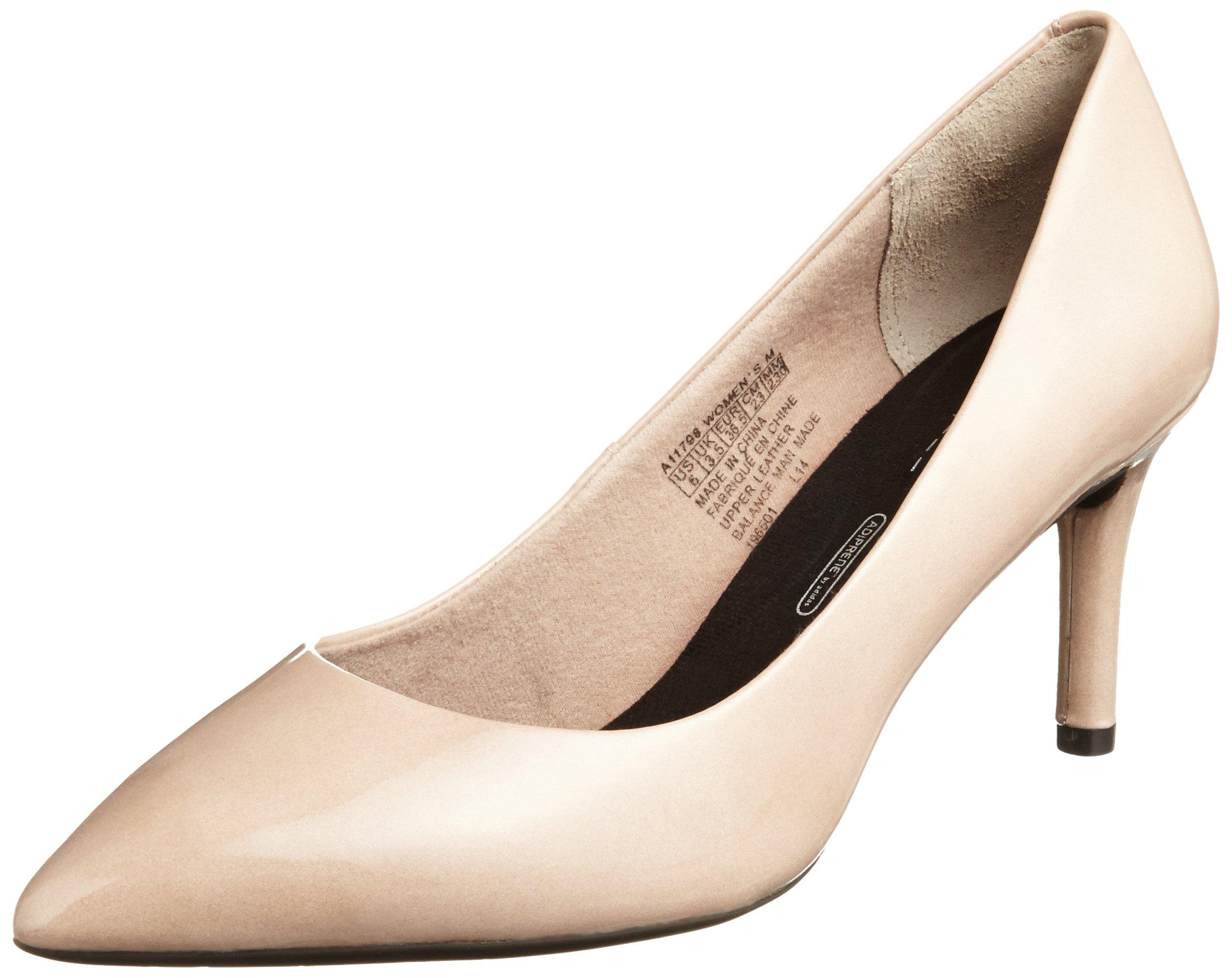 Taupe 281385 Eu Chaussures Pieds Tm75mmpth Pump Couvert FemmeBeigewarm À TalonsAvant Du Rockport Plain OPkX8n0w