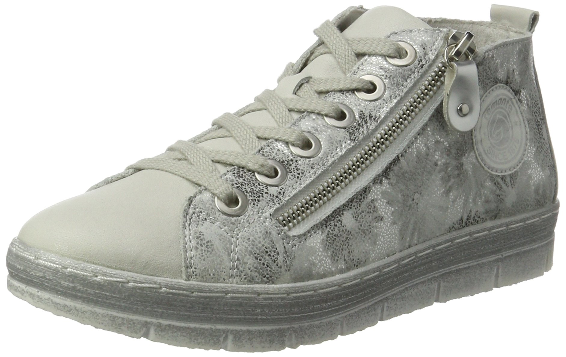Remonte weiss weiss 8038 D5870Sneakers FemmeArgentoffwhite argento Eu Hautes nwPkX80O
