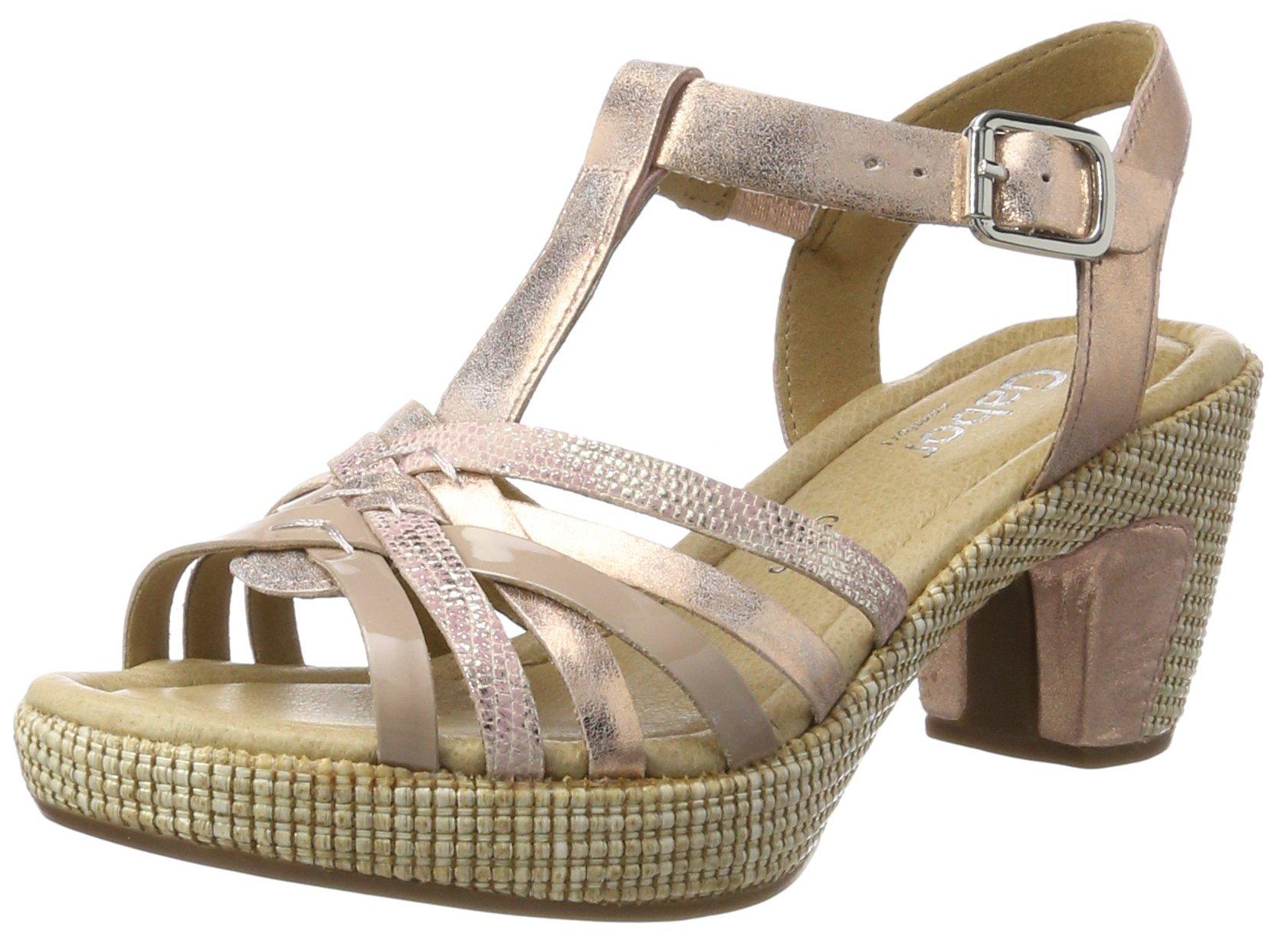 Eu Ouvert FemmeOrangelachs st40 Bout Shoes ComfortSandales Gabor Ba 5 FTl1JcK