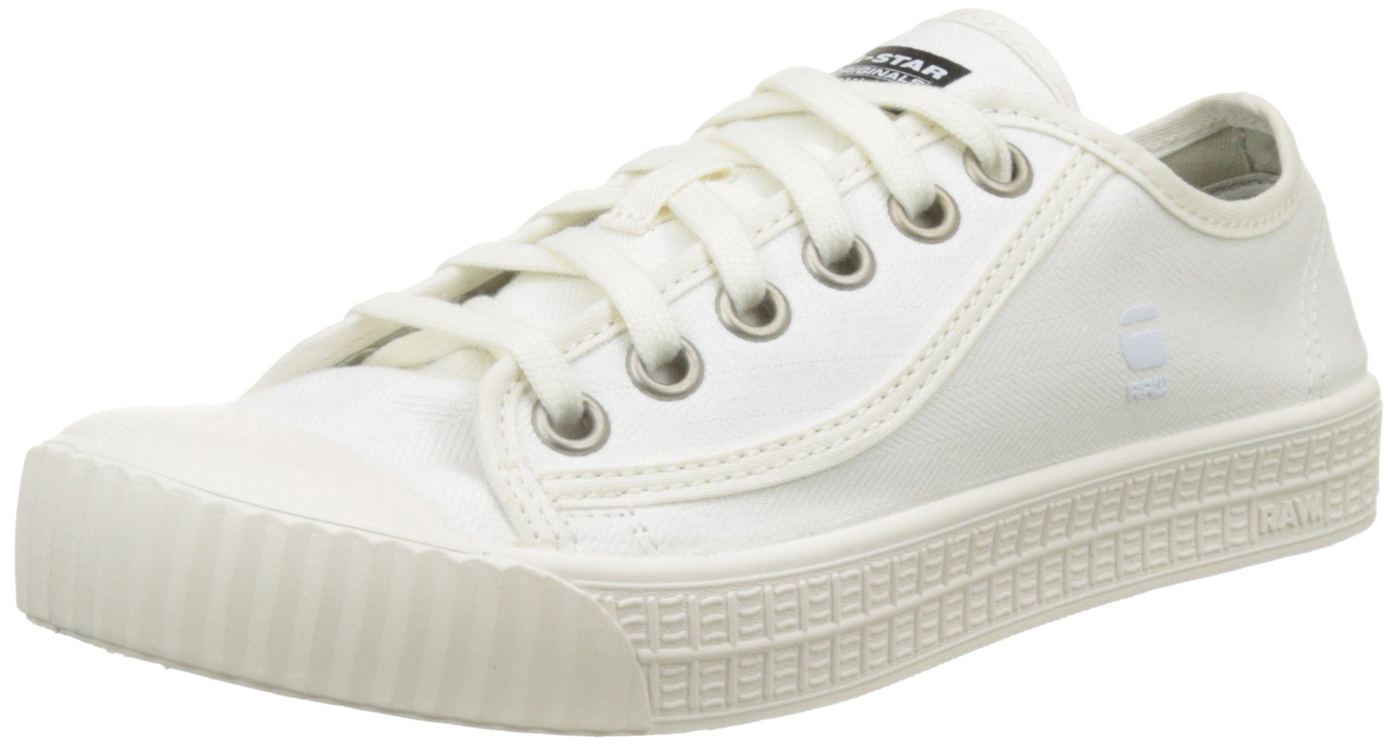 Rovulc Denim Eu G SneakersBasses FemmeBlancwhite Raw Low 11041 star SVpGLUzMq