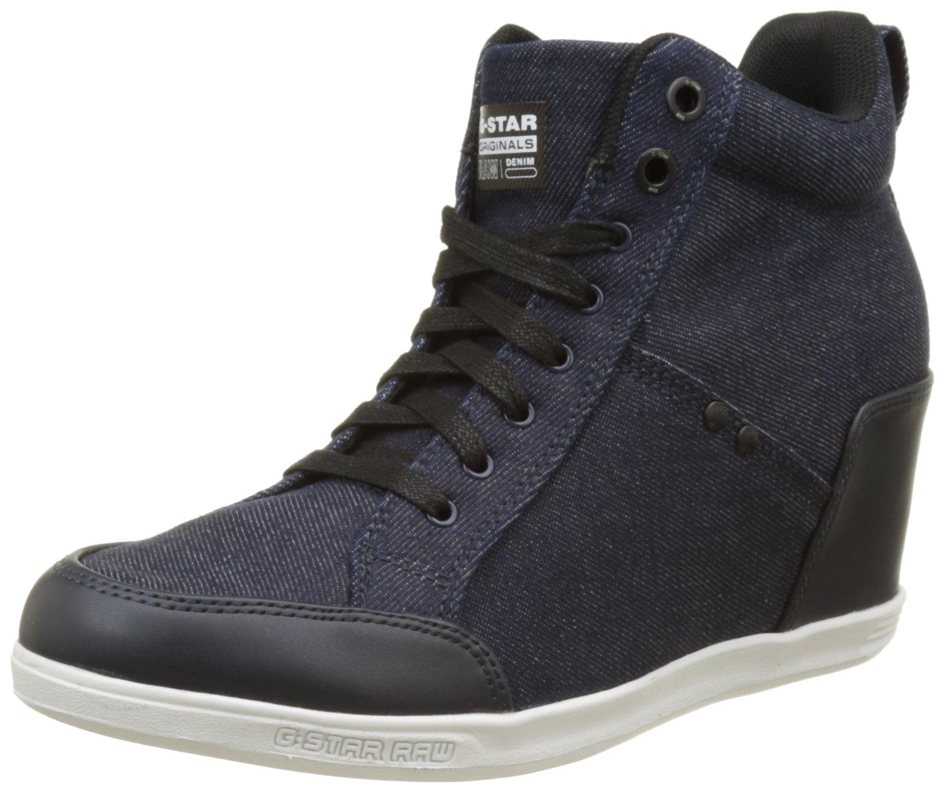 Navy Raw Labour WedgeSneakers G 88140 FemmeBleudark Eu star New Hautes rQdtsh