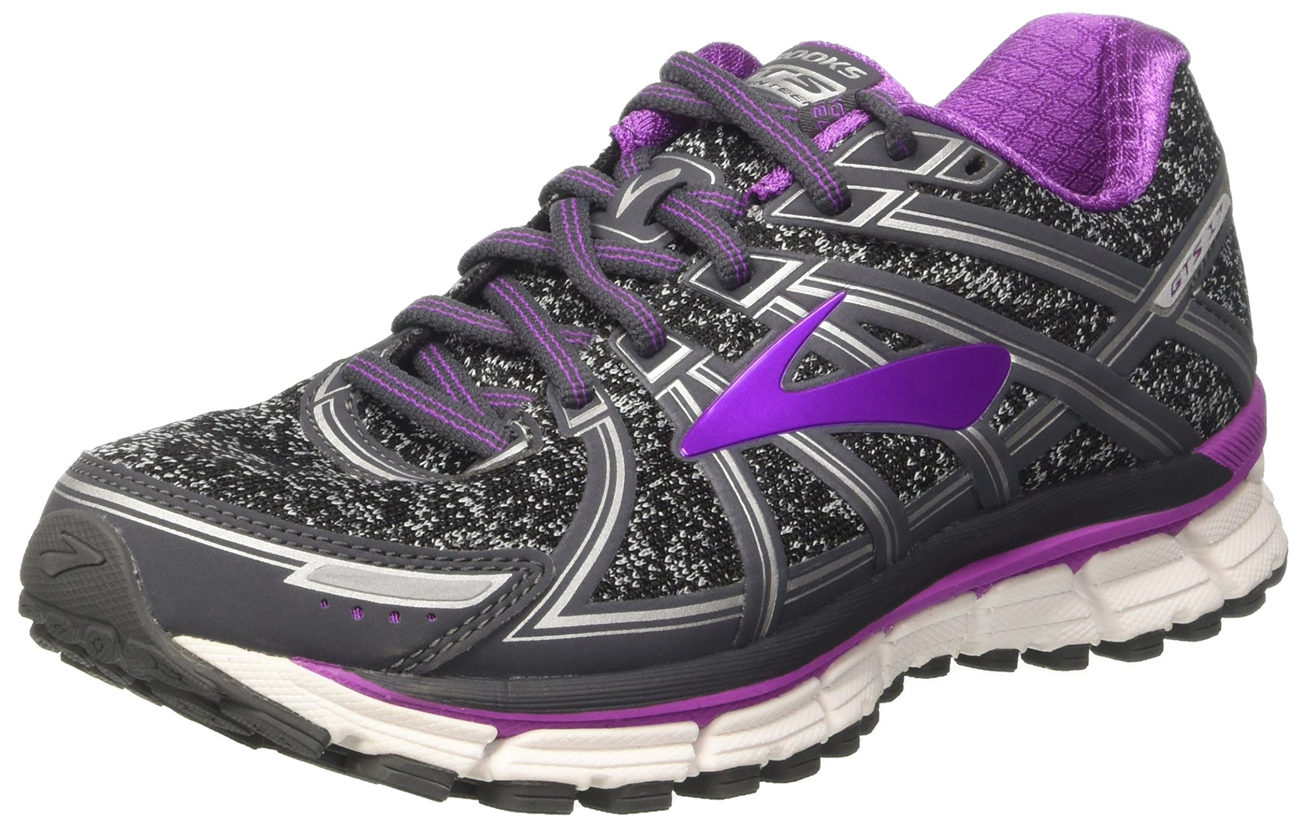 Adrenaline Cactus purple De Flower38 black Charcoal Eu FemmeGrismetallic Gymnastique Brooks Gts 17Chaussures OuPXkZi