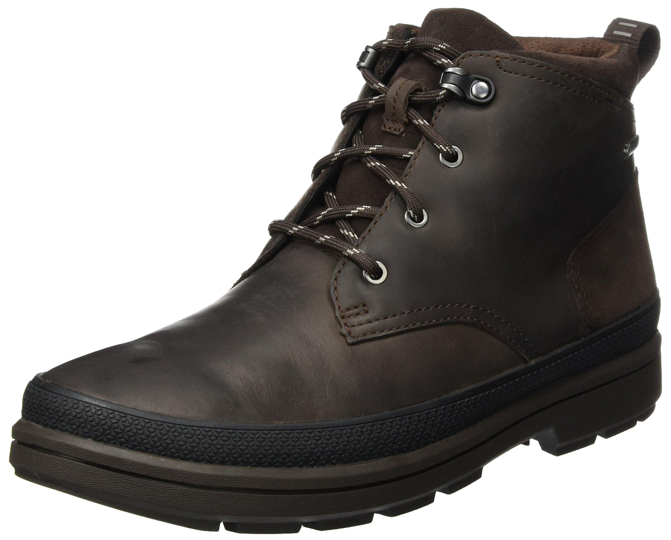Eu Clarks Classiques Leather41 5 Rushwaymid HommeMarrondark GtxBottes Brown Nm08nw