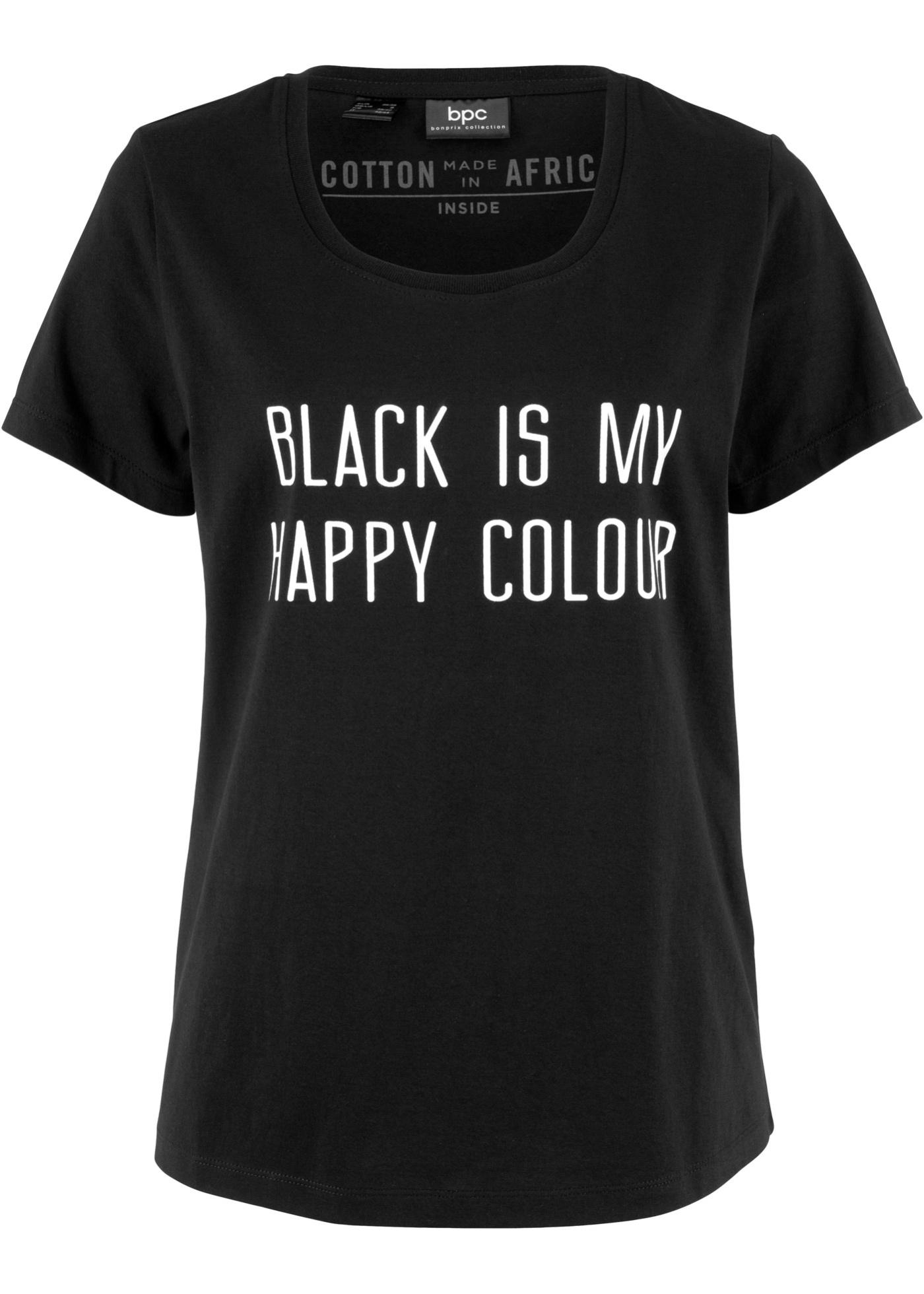 Noir Courtes Femme À Bpc CollectionT Manches shirt Pour Bonprix CxhdsrtQ