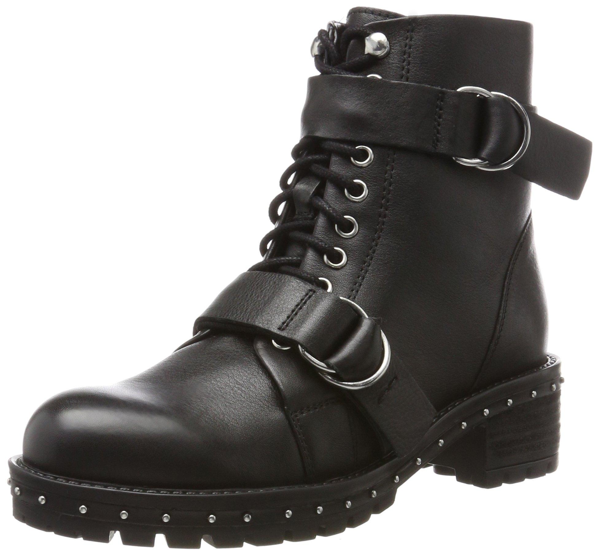 Bronx 18736 Bx silver Eu falkoxRangers 1417 Boots FemmeNoirblack Bnew 7Ygyb6f