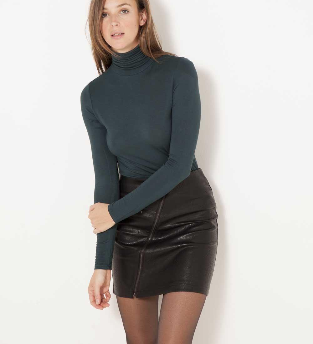 shirt Camaïeu T Col Roulé Femme XwPkZiOuT