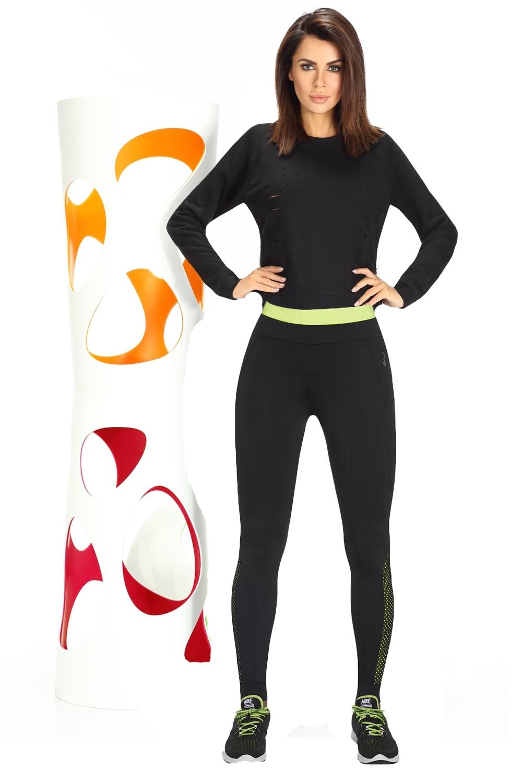 Sport Black Leggings Bleu De Bas Inspire Femme green BrWodCEQxe
