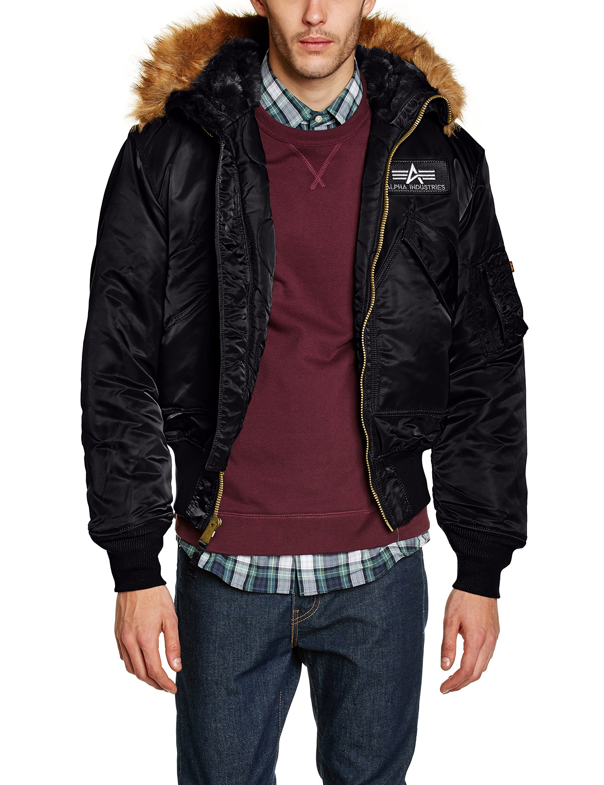 45 large P Alpha saison Hooded Veste Mi Industries BlackNoirblackXxx 8n0PwkOX