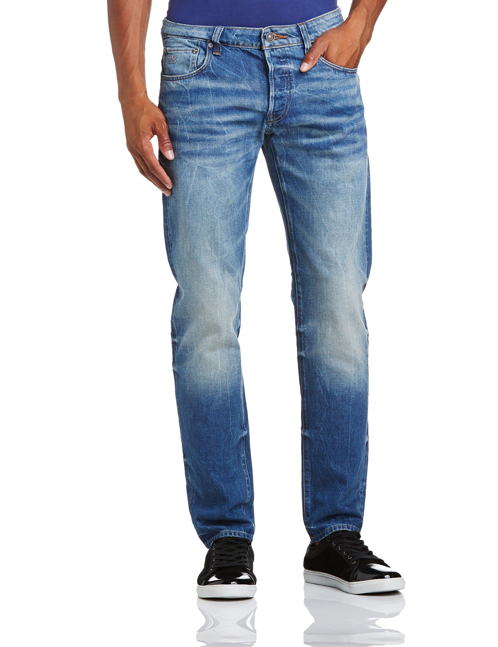 Low Homme 3301 07134w34l 6111 Bleumedium Jeans Raw Tapered star Aged G QdshCtr