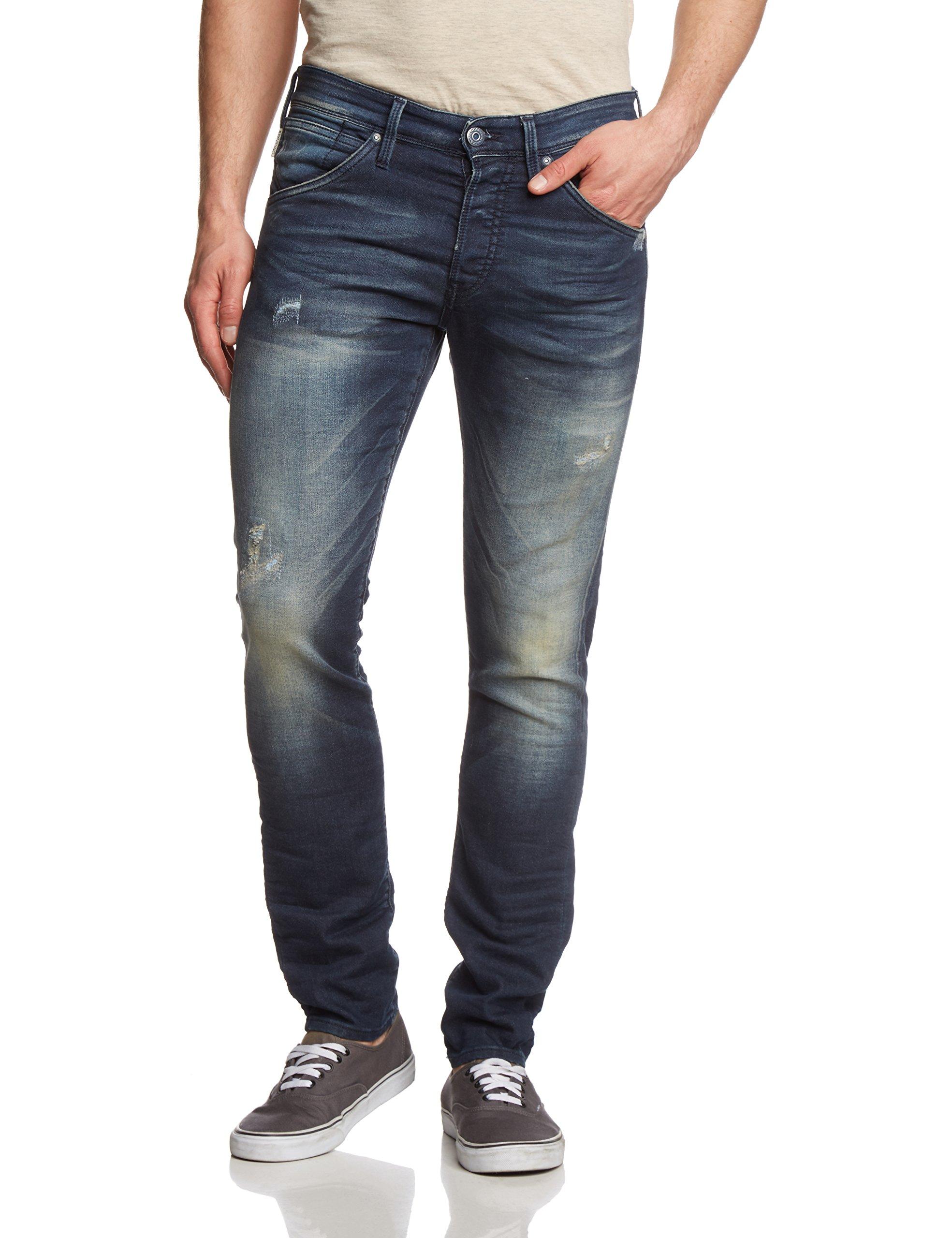 Jjfox 469 JeansBleublue Jackamp; Noos Homme Indigo FabricantW32L34 Jones Bl DenimTaille Jjiglenn Knit nX80OwPk