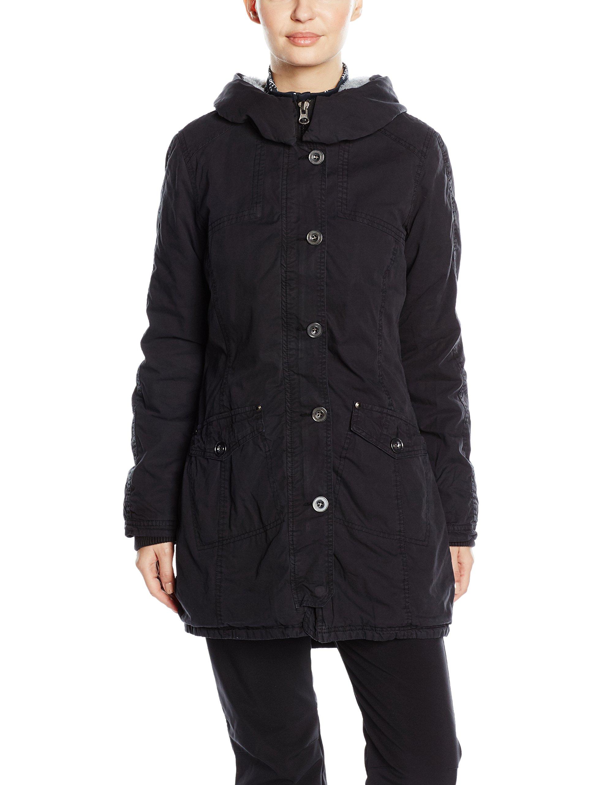 Blouson Washed Classics Parka FemmeNoirschwarzTaille small Long Jacke Garment Urban FabricantX WD9HIeE2Y