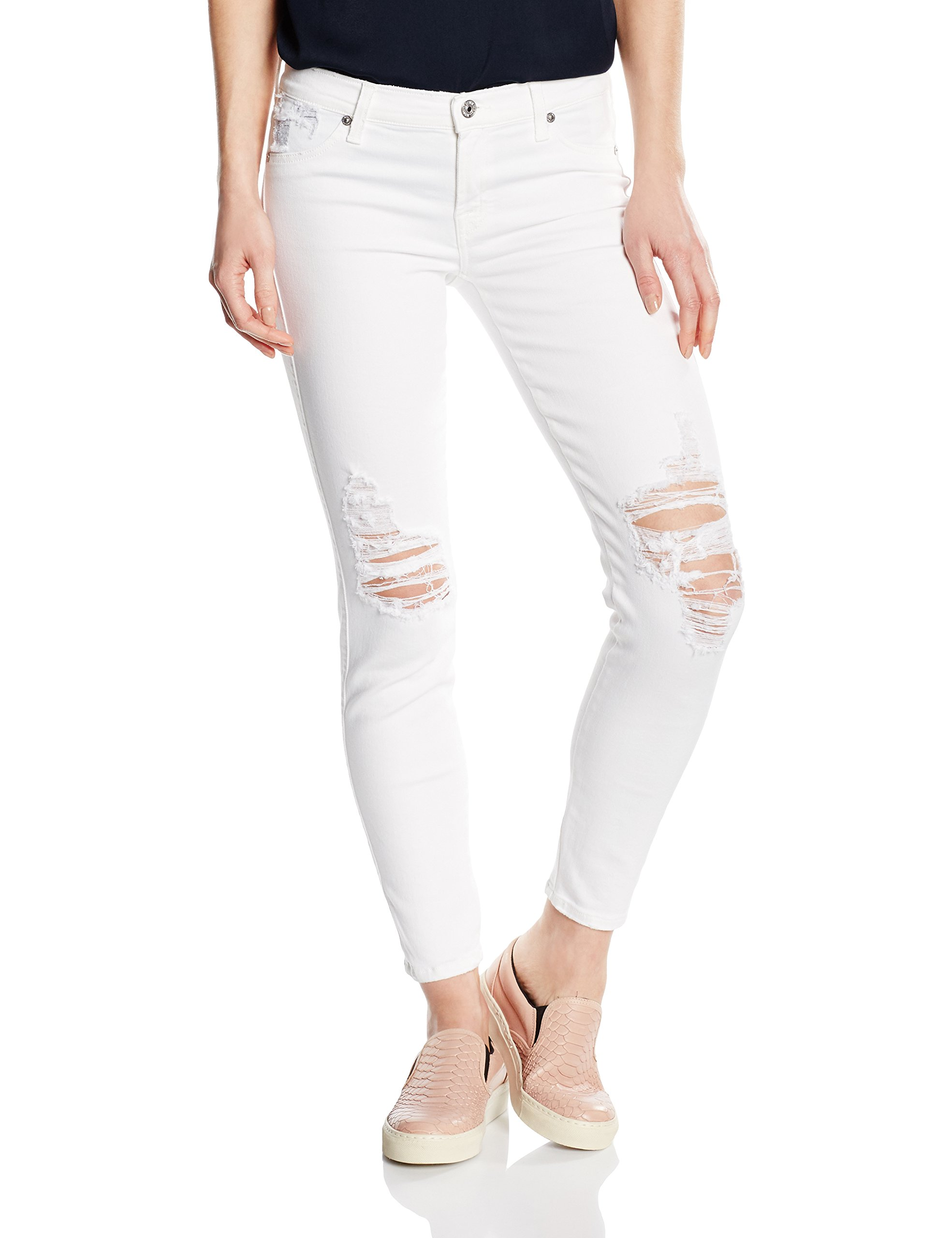 7 For l28taille Fabricant28Femme All Svuq580 Mankind MwW28 JeansBlancauthentic Distressed White EYe2IDWH9