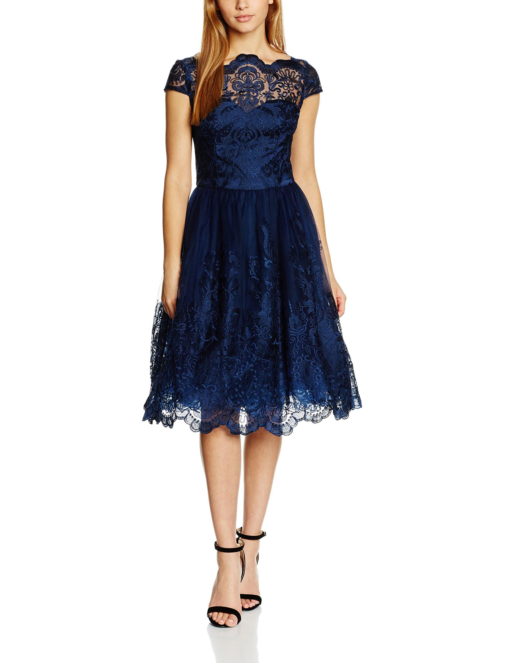 Femme 41735kbl London Cap Style Sleeve Baroque Chi RobeBleunavy34 y6Ybfg7v