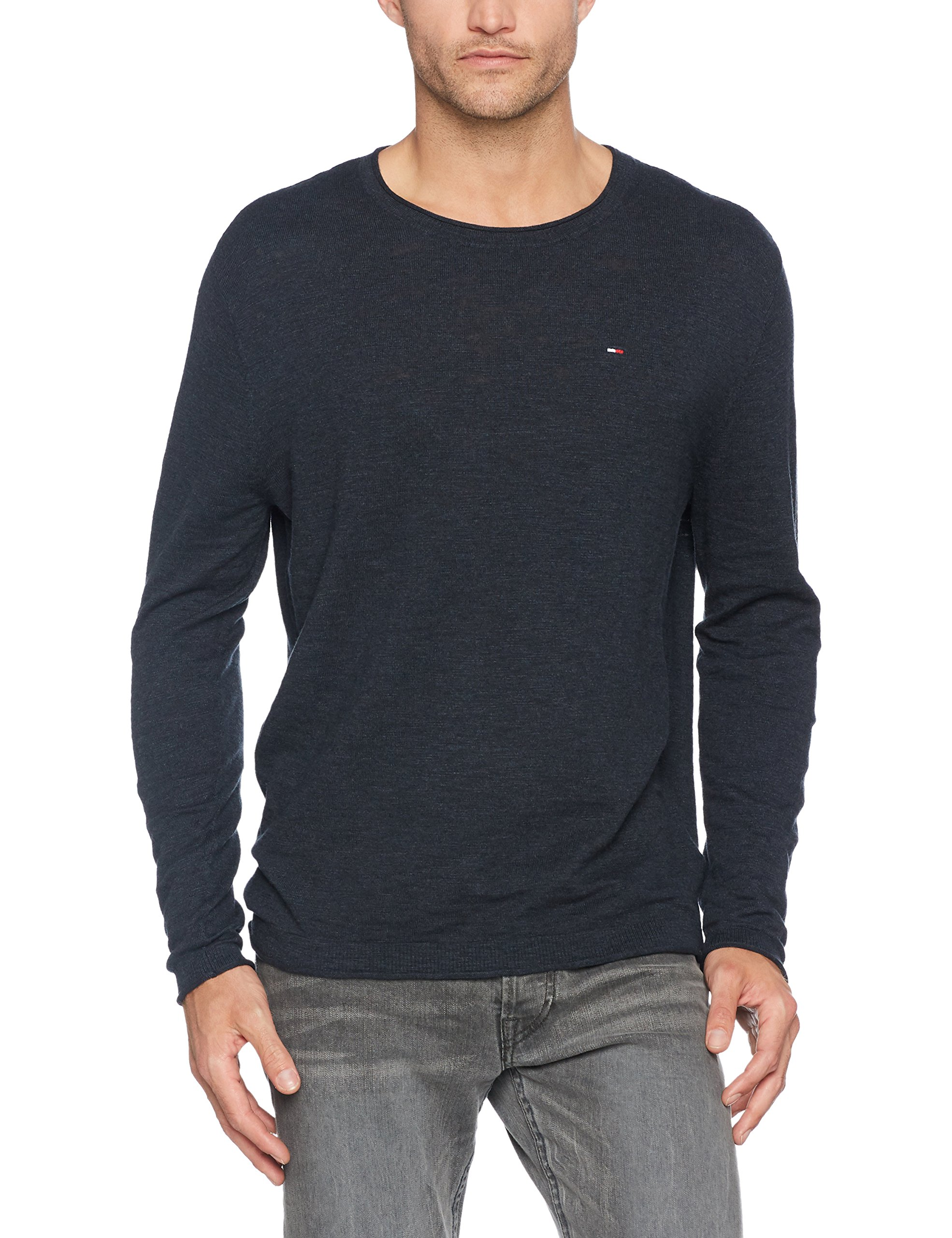 Coupe small s Jeans Homme Droite Pull Sweater L Longues Tommy Bleuvulcan Manches Basic HtrX Cn 1 byYfg76v