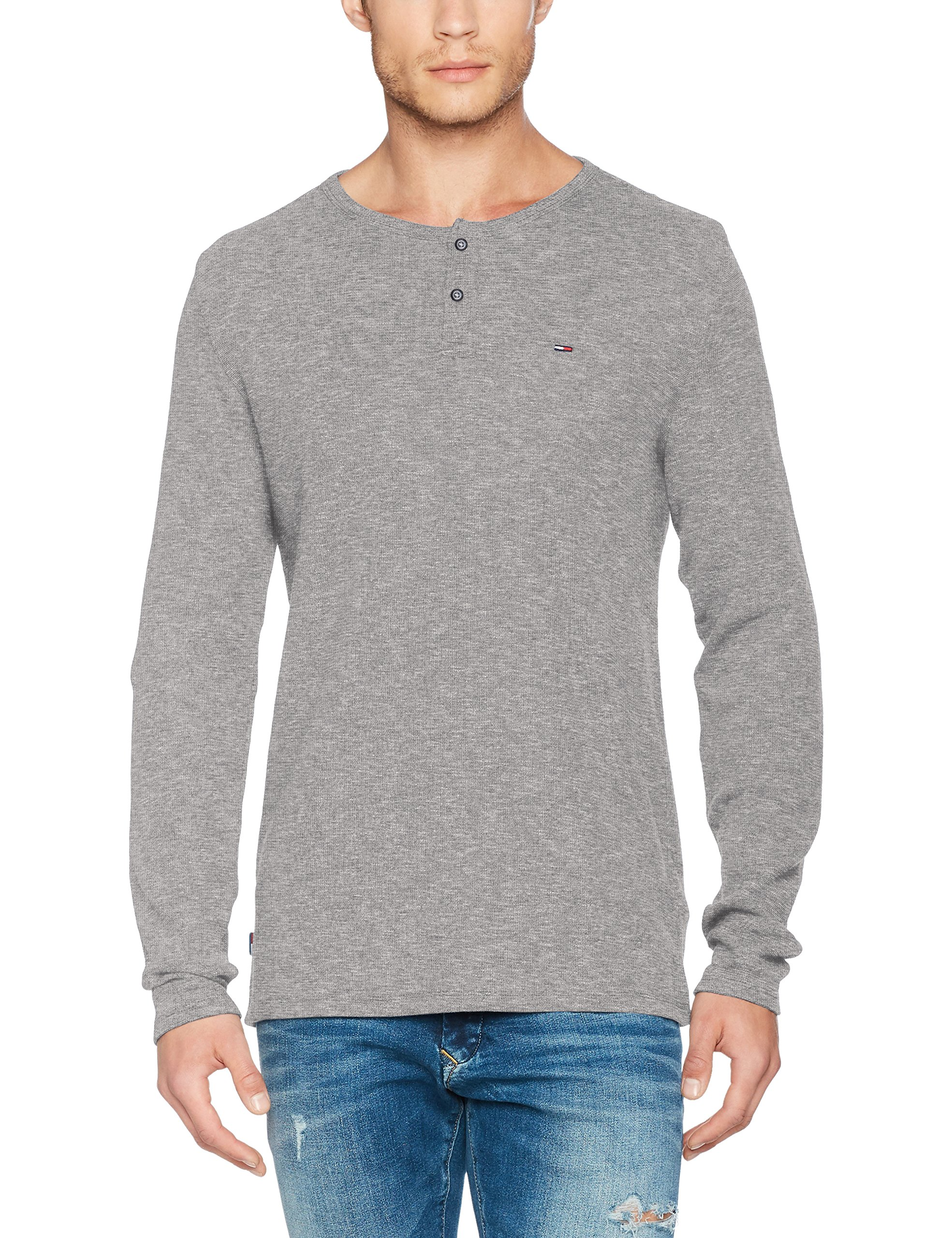 Grey Droite Tommy Grislt Homme Rlx Coupe Longues Pull Manches HtrSmall Jeans Henley 4R5jSc3LqA