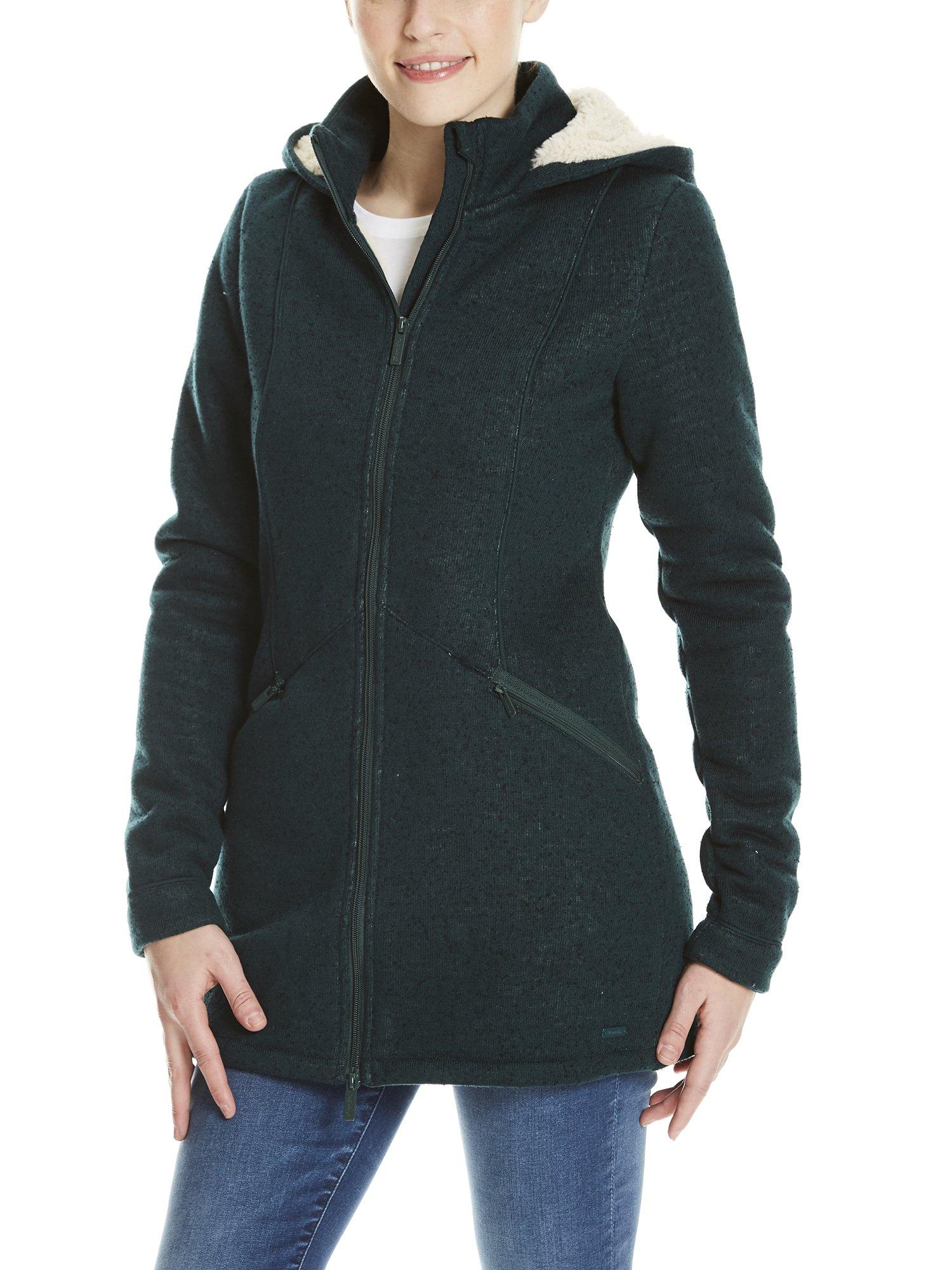 Green Teddy Jacket Long Bench Gr163Large SweatVertdark Bonded Veste Femme gb76fy