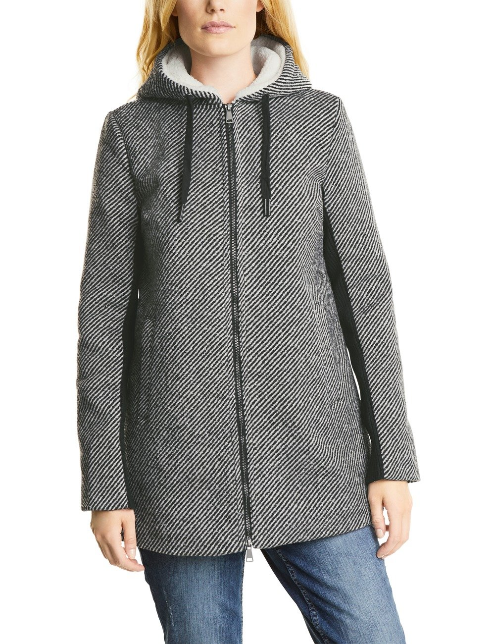 ManteauGraudark large Cosy Cecil Grey Coat 21029Xx Femme Structured Pk8n0wO