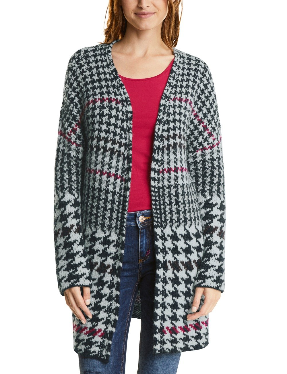 Houndstooth One With Du Street Cardigan Dessin 3010938taille Fabricant36Femme GiletBlaunight Blue mOv0wNn8