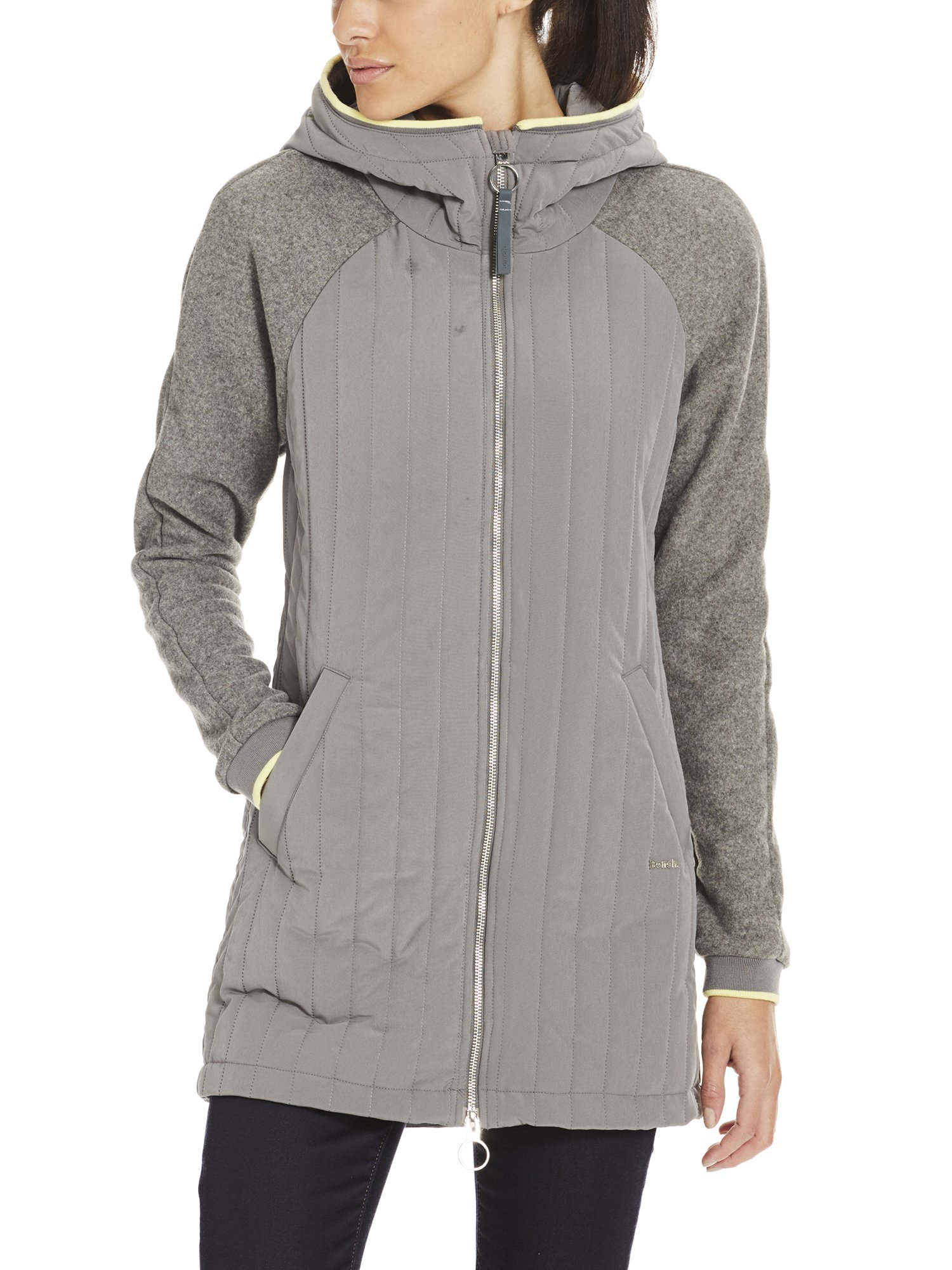 Material Core Mix ManteauGrisdark Grey Gy149Small Femme Slim Bench Coat 8w0PknO