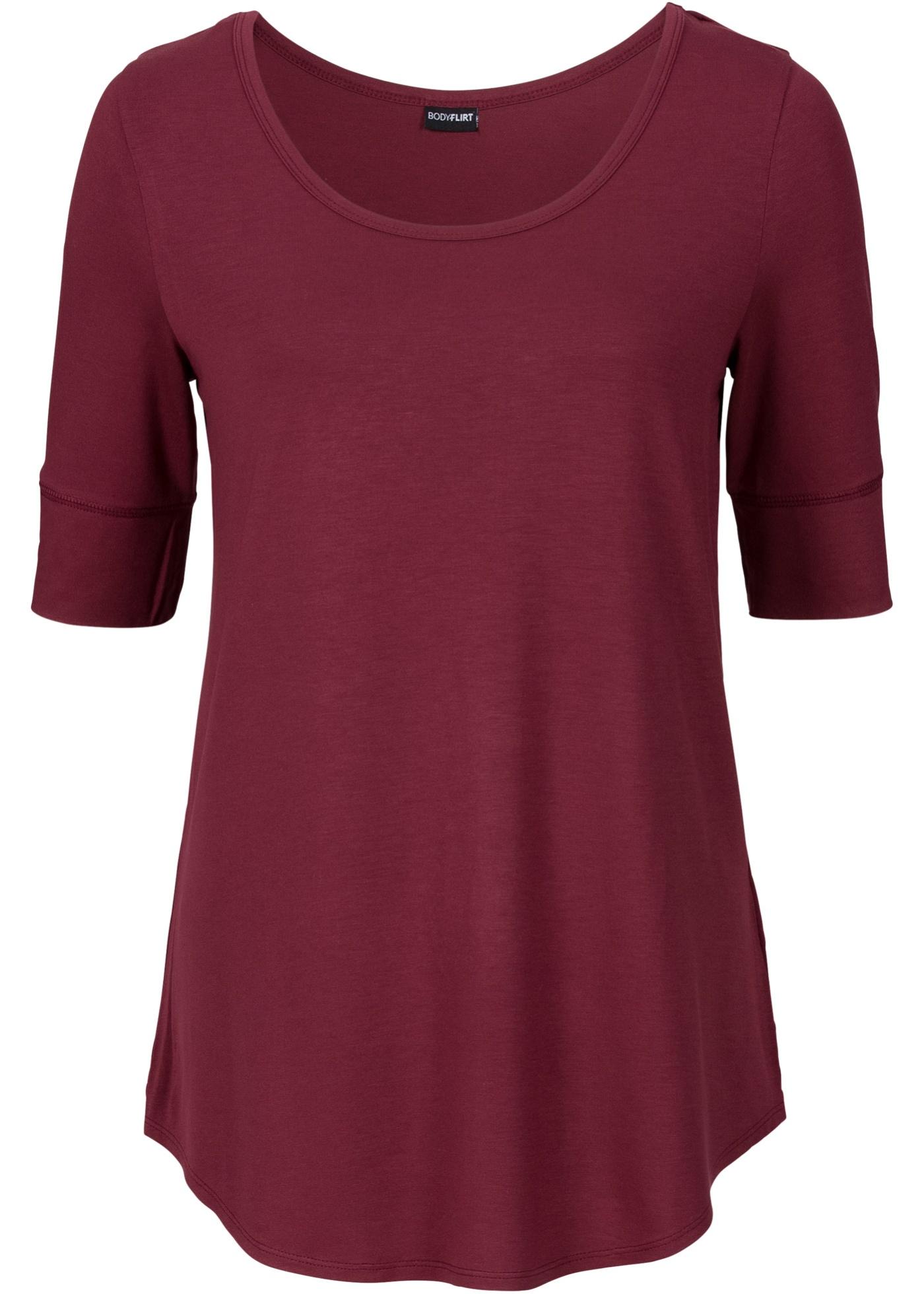 Bodyflirt BonprixT Rouge Femme shirt 4 Pour Manches 3 jUVpGMLqSz