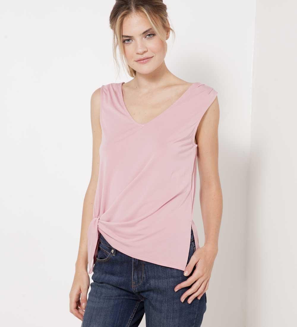 shirt T Côté Femme Nœud Camaïeu 67fbyYg