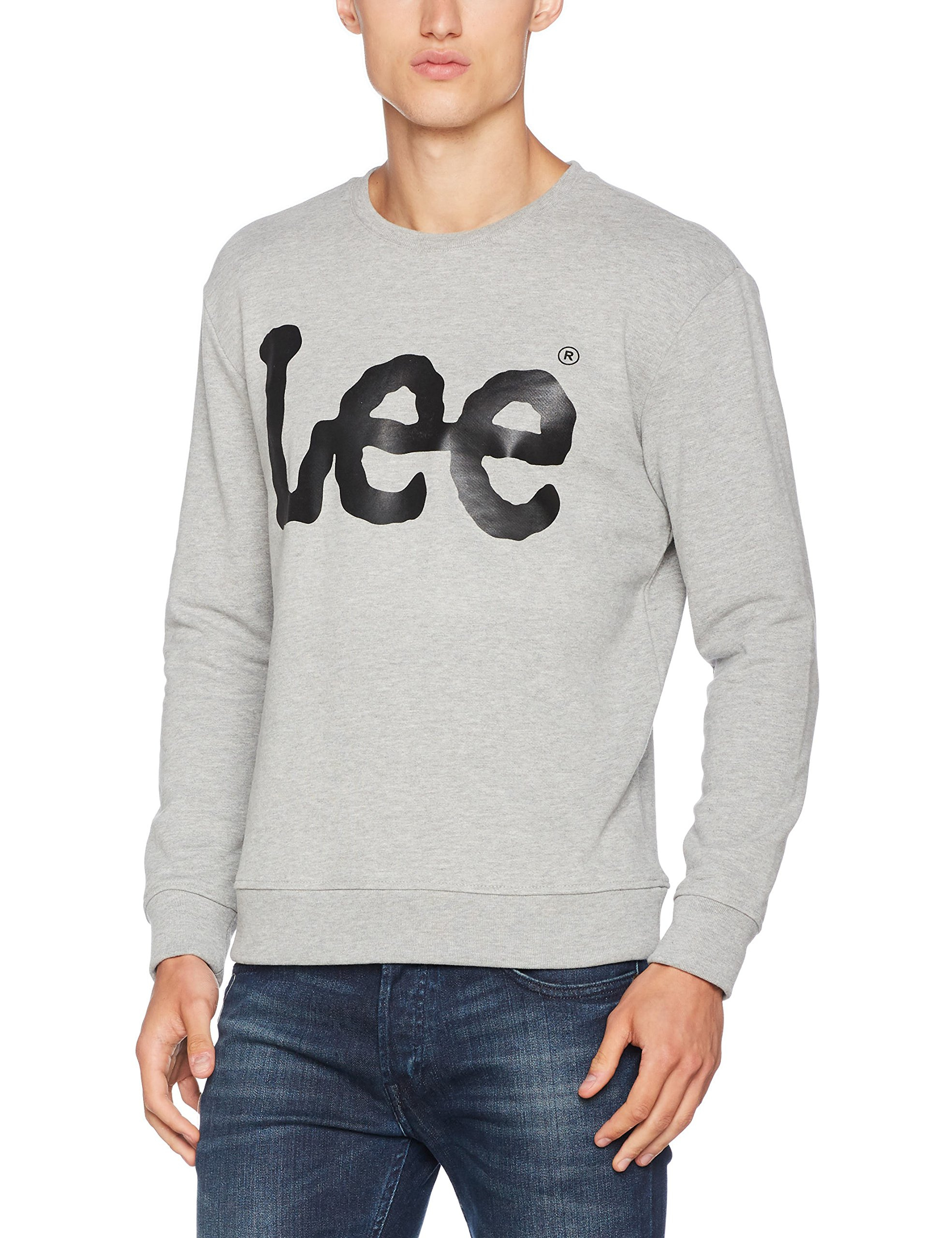 Lee Logo Sweat Mele shirtGrisgrey Homme Ub37Large Sweatshirt dorxWCeB