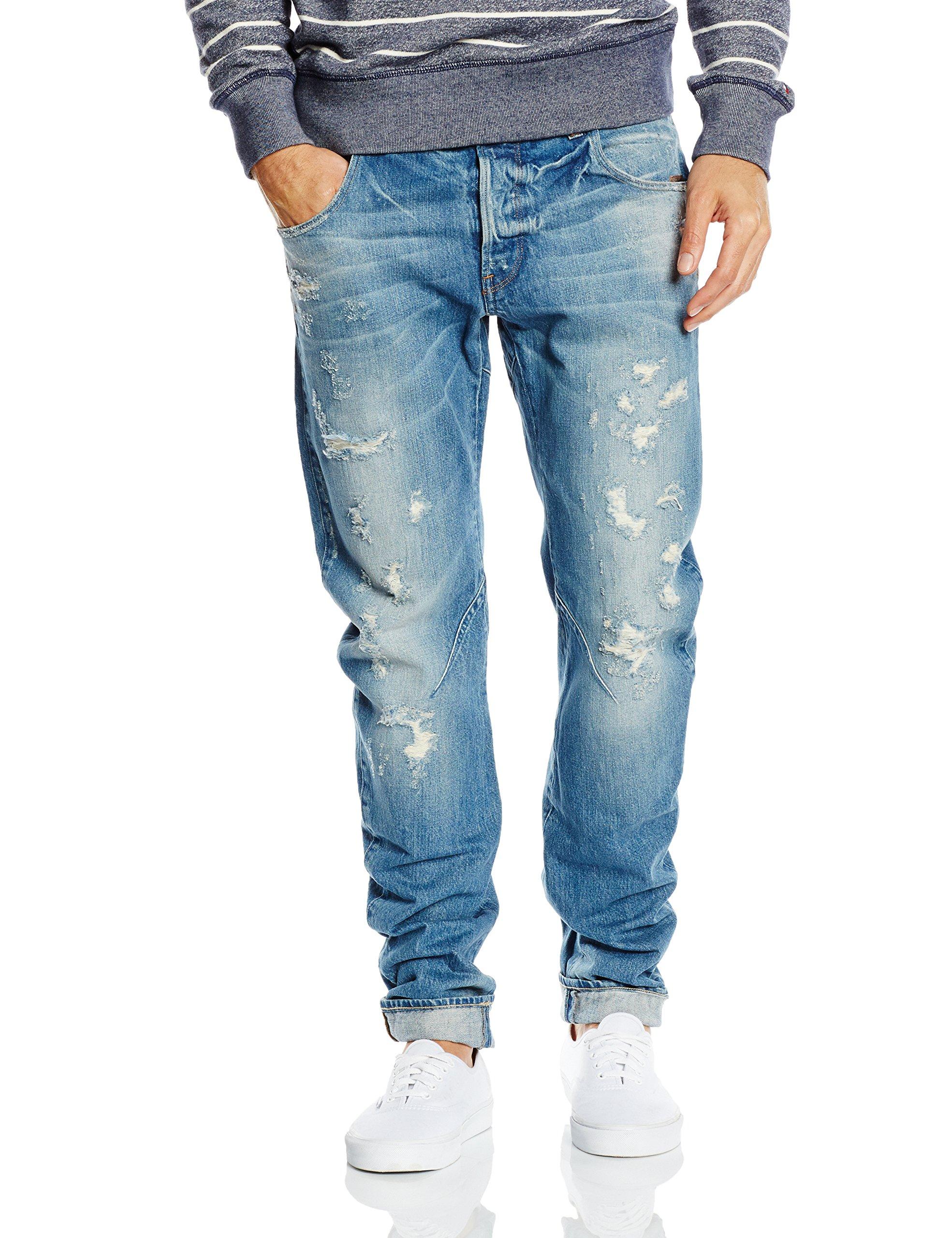 7113 3d 564133w34l Raw star Homme G Arc Slim Restored JeansBleumedium Aged WDH2YE9I