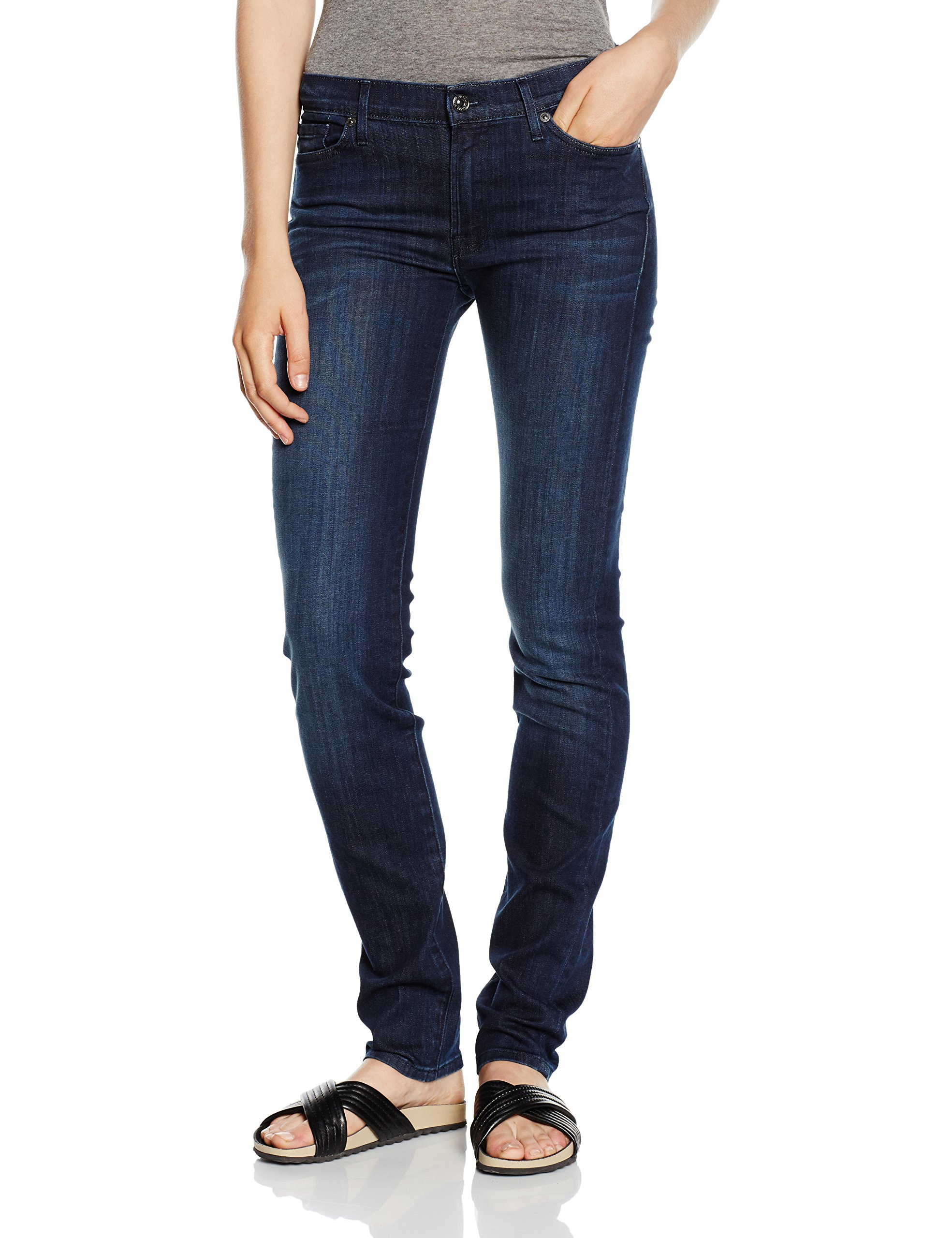 Pour Rozie All Mankind Slim Taille For Femme Jean HauteBleu W26 7 Coupe 6b7Yyvfg