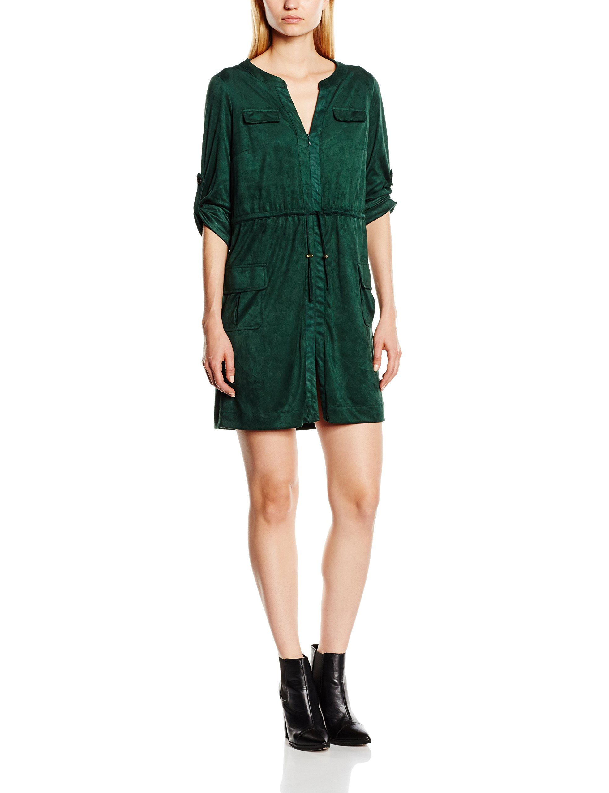 Dress Cortefiel In SuedeRobe Fake FemmeVertgreensS UpqSzVGM