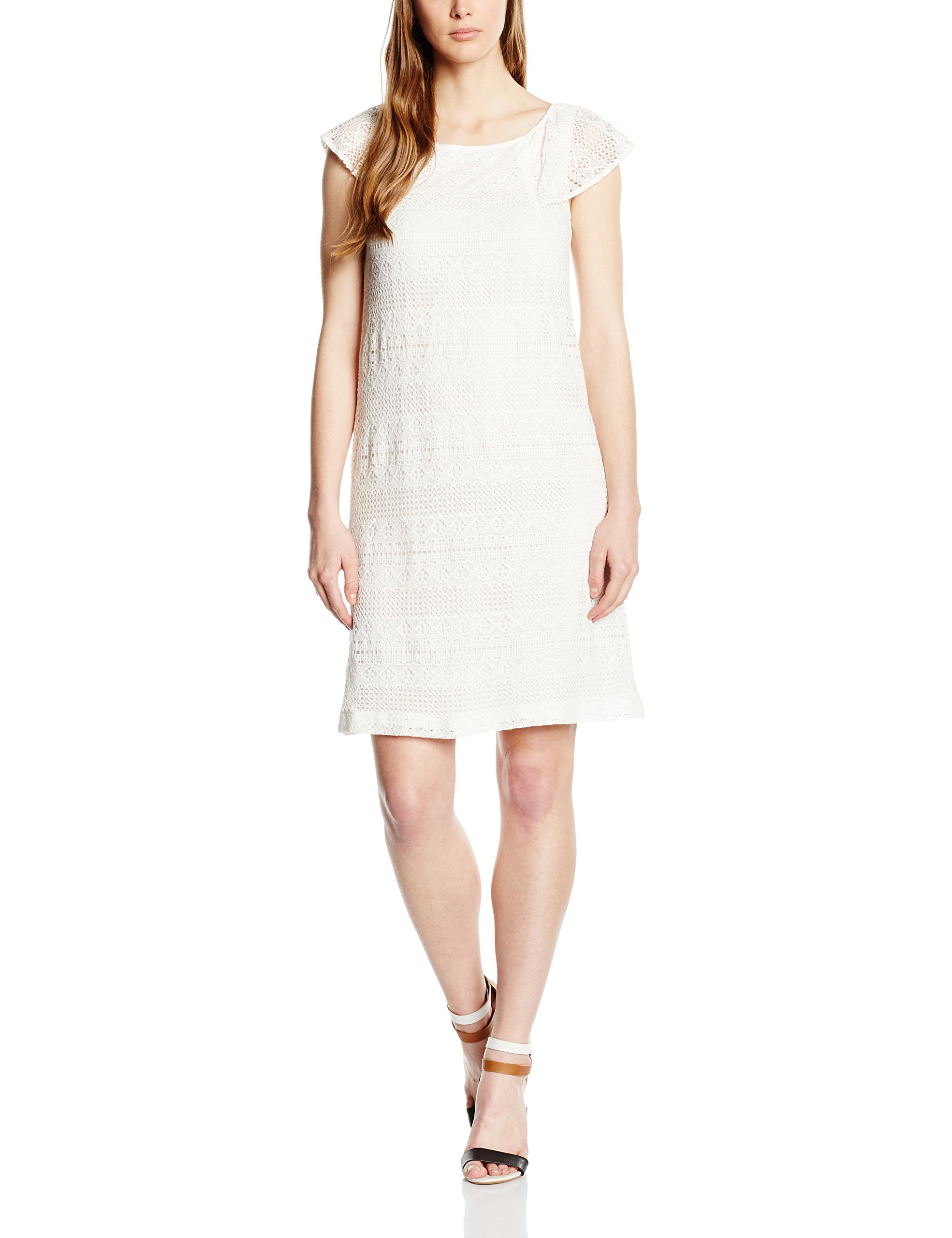 Esprit Uni Écruoff WhiteFr38taille 046ee1e009Robe Femme Courtes Manches FabricantDe36 dCorxeWB