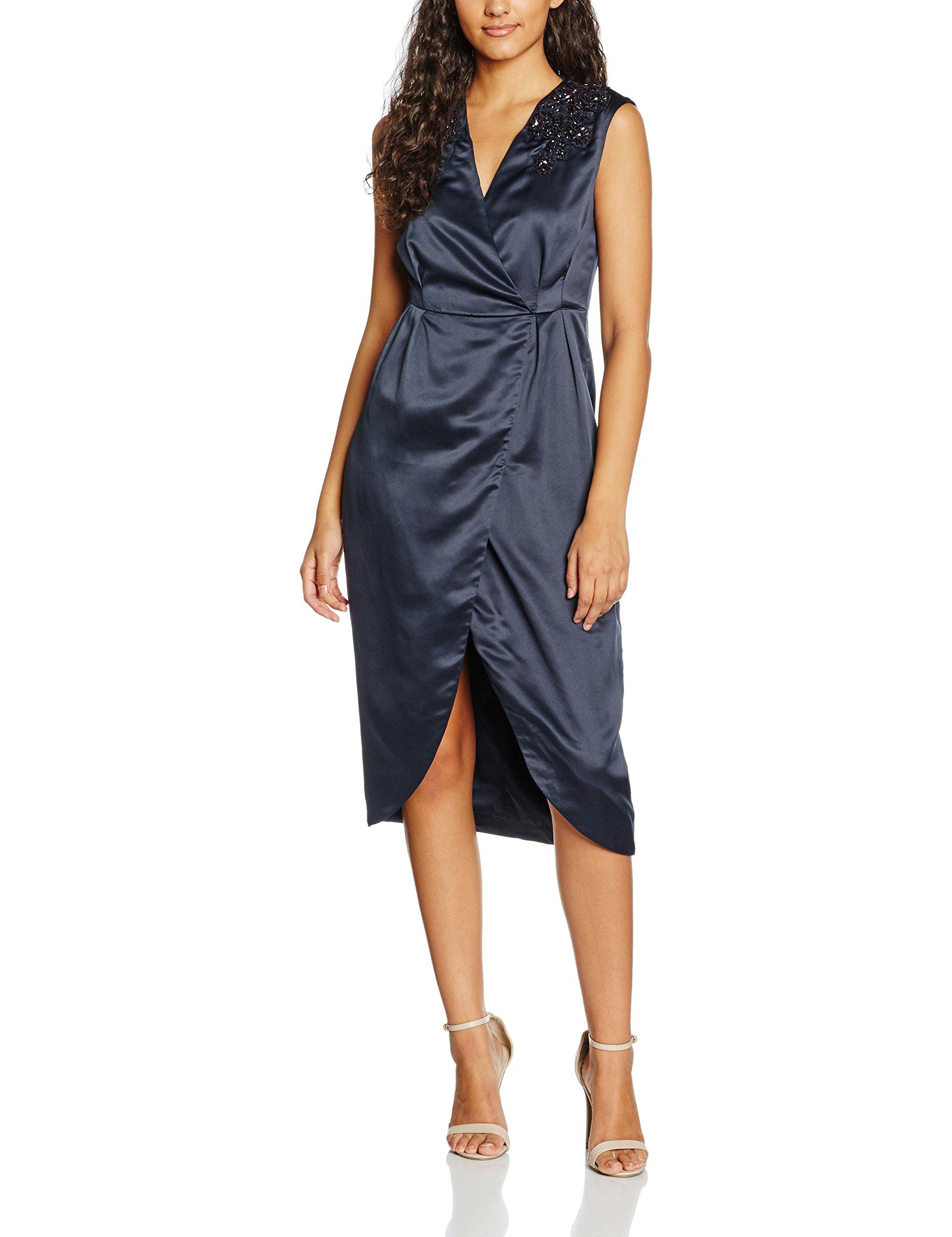 Dress London Darling Eeva Bleumidnight38 Femme Midi Robe ARq5S34cjL