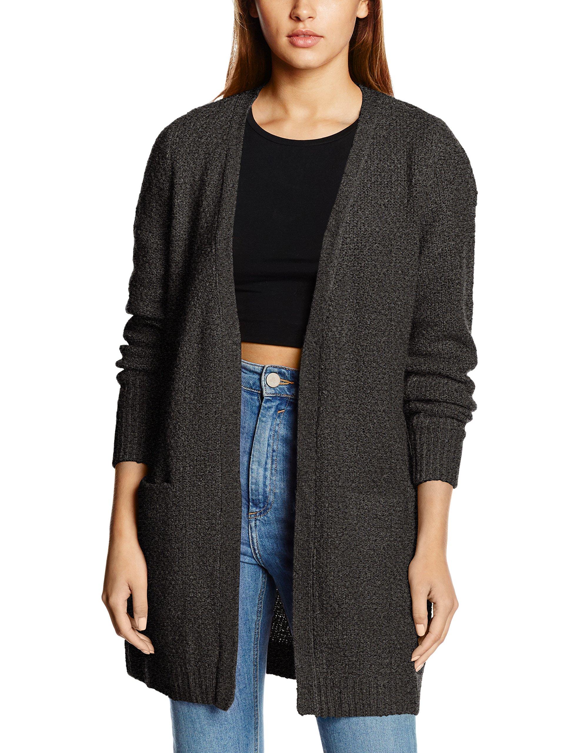 FemmeGrisdark Melange40taille Vila noosGilet Clothes Viplace FabricantLarge Grey Cardigan Knit Xw0kN8OPn