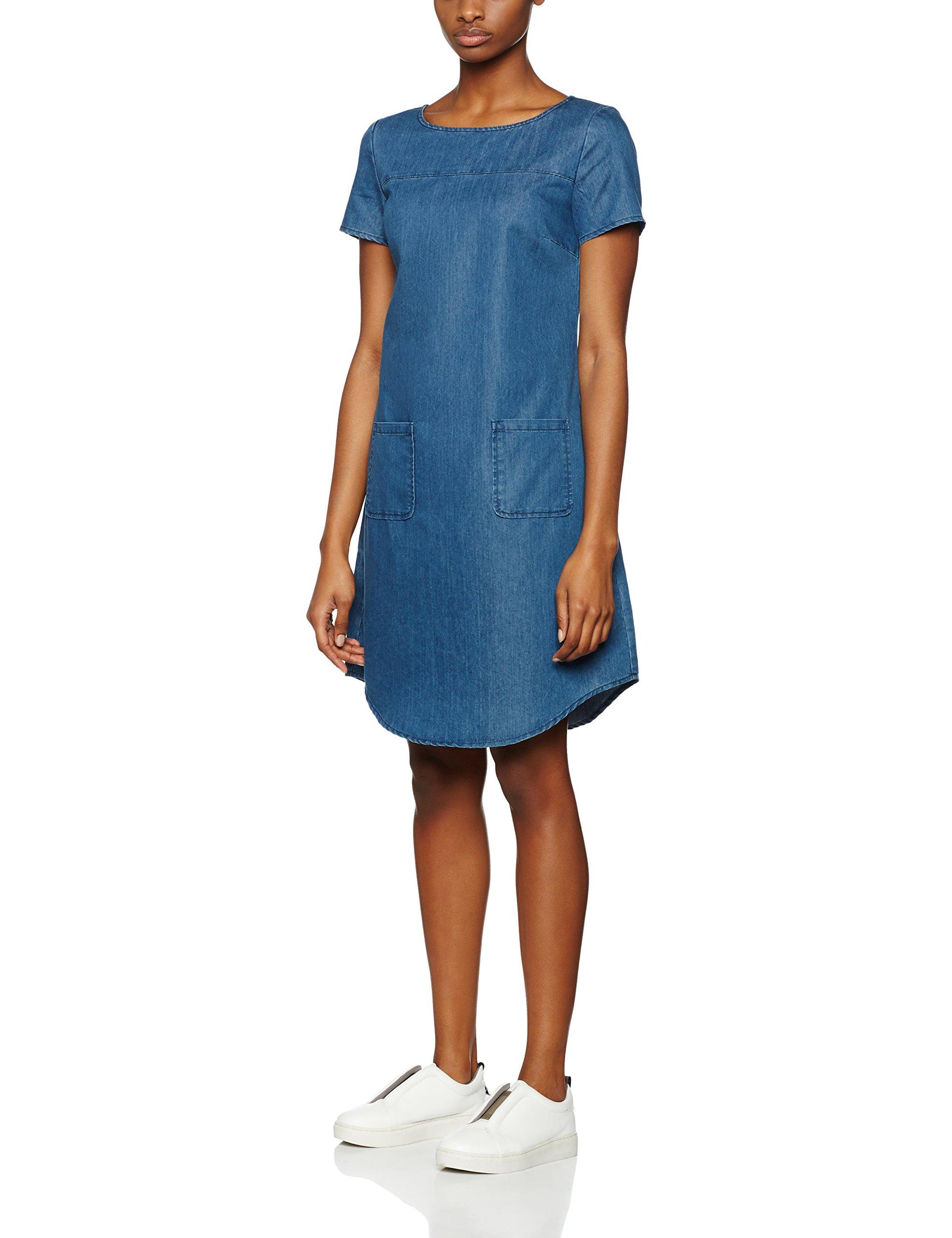 RobeBleumid Denim 096236 Kleid Femme Blue Moreamp; 0wPZN8OknX