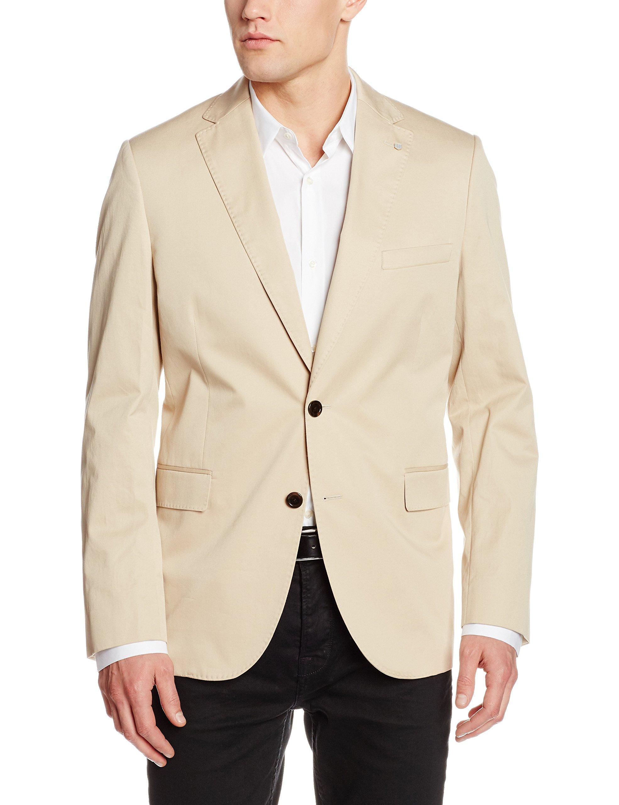 BlazerBeigedry Homme Cotton Twill Gant Sand48 SMGULVqzp