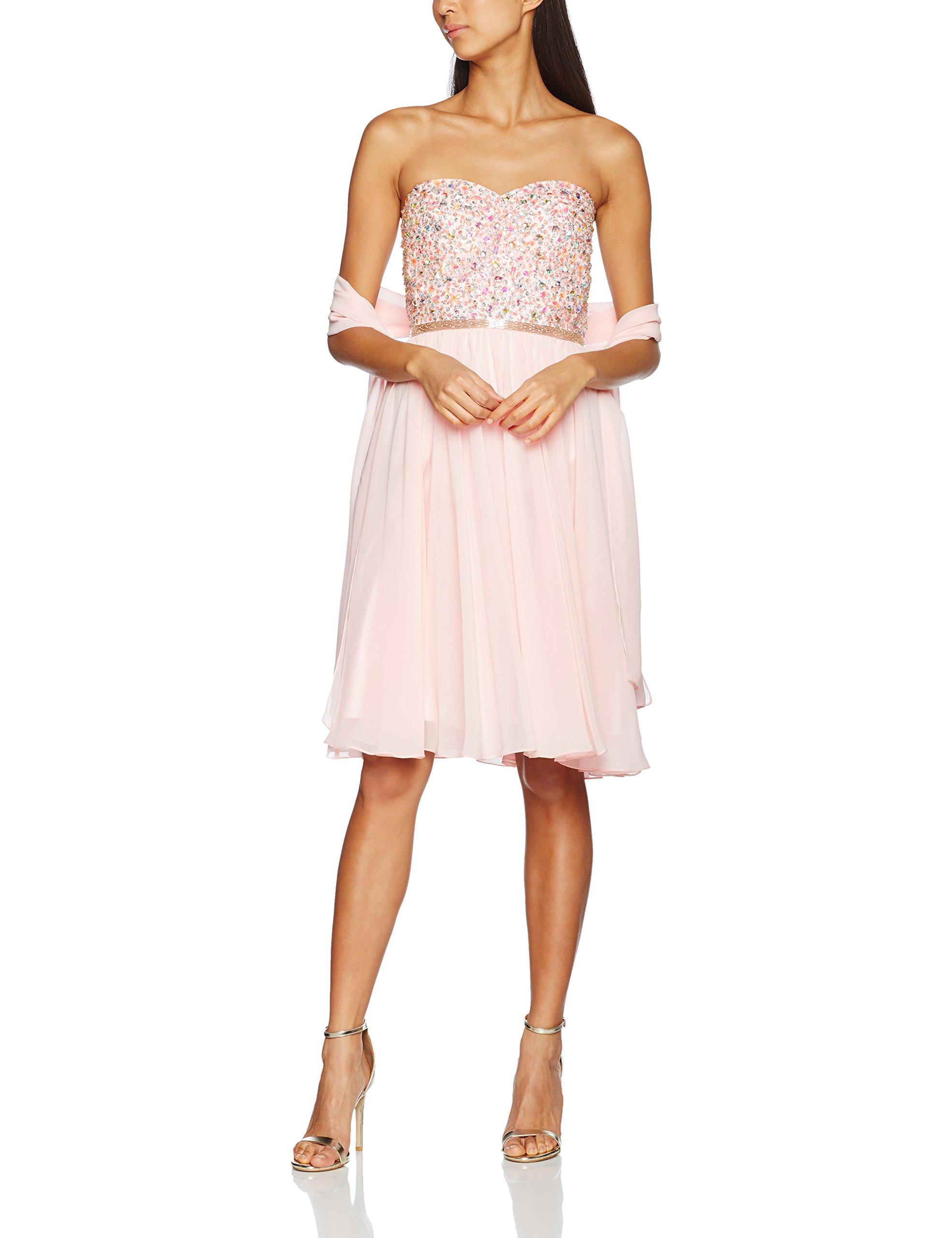 De Soirée Pinkalmond S heartRobe Beaded Femme Pink42 Mascara 9IHWYDE2