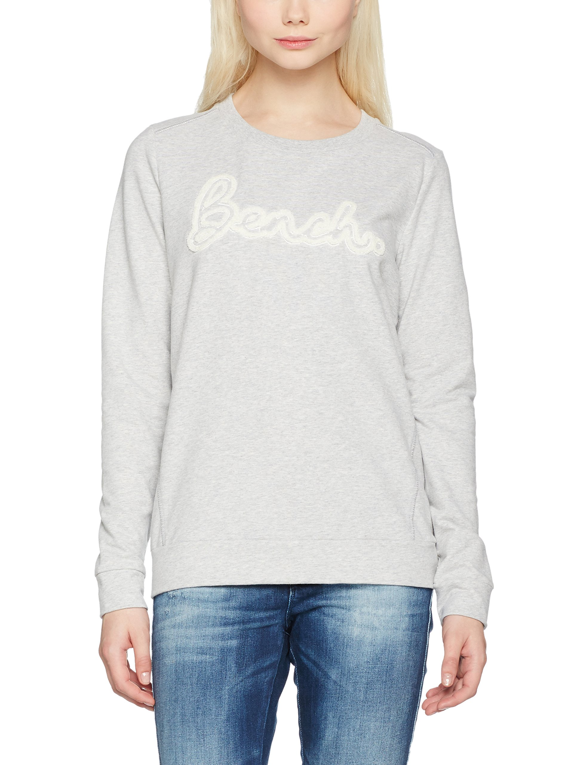 Bench Crew Neck Ma102638taille FabricantSFemme Marl Embro Hole PullGrissummer Grey lFTKJu1c3
