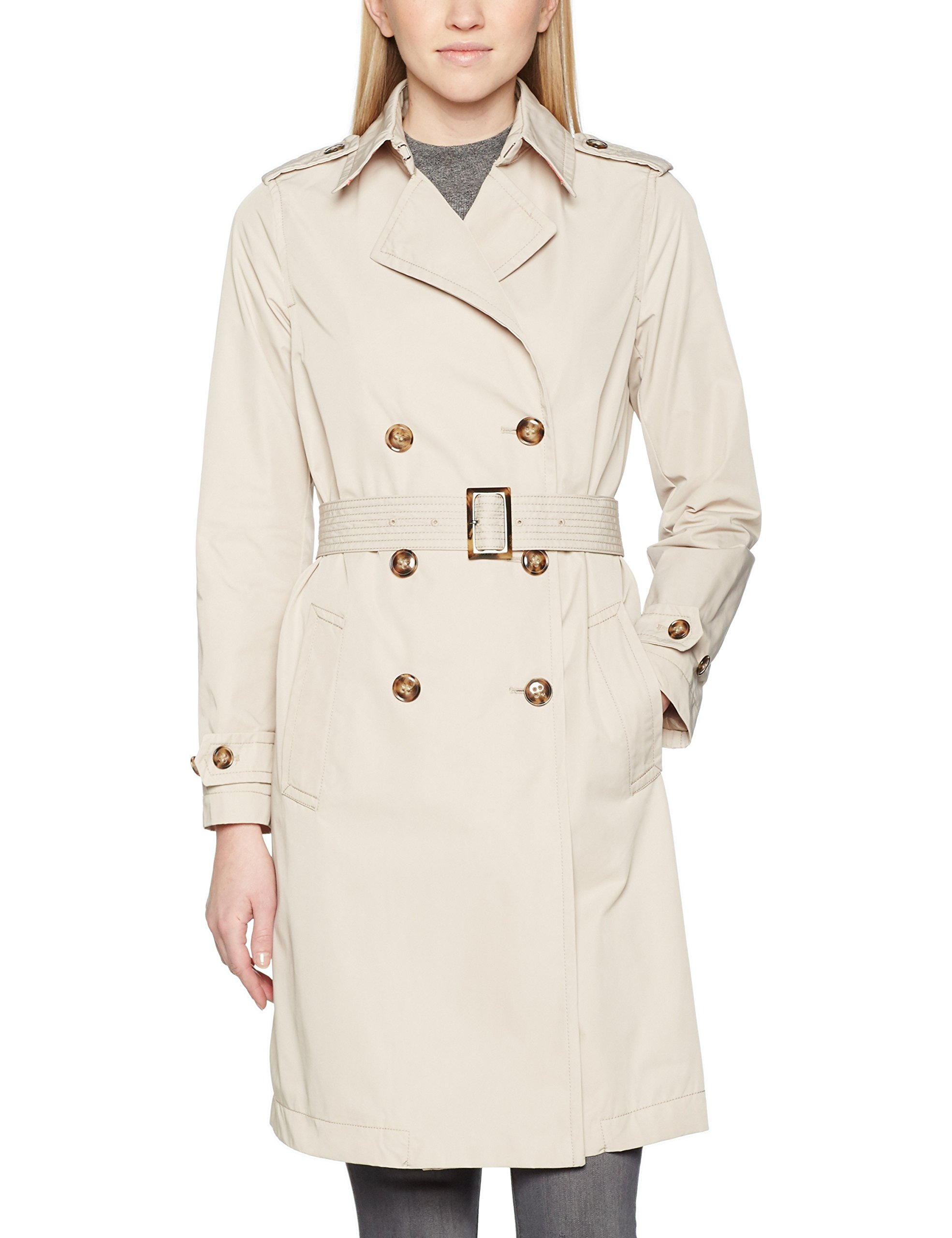 ManteauBeige10taille Trench Belt Fabricant42Femme Coat Benetton Of Colors With United JFT1lcK