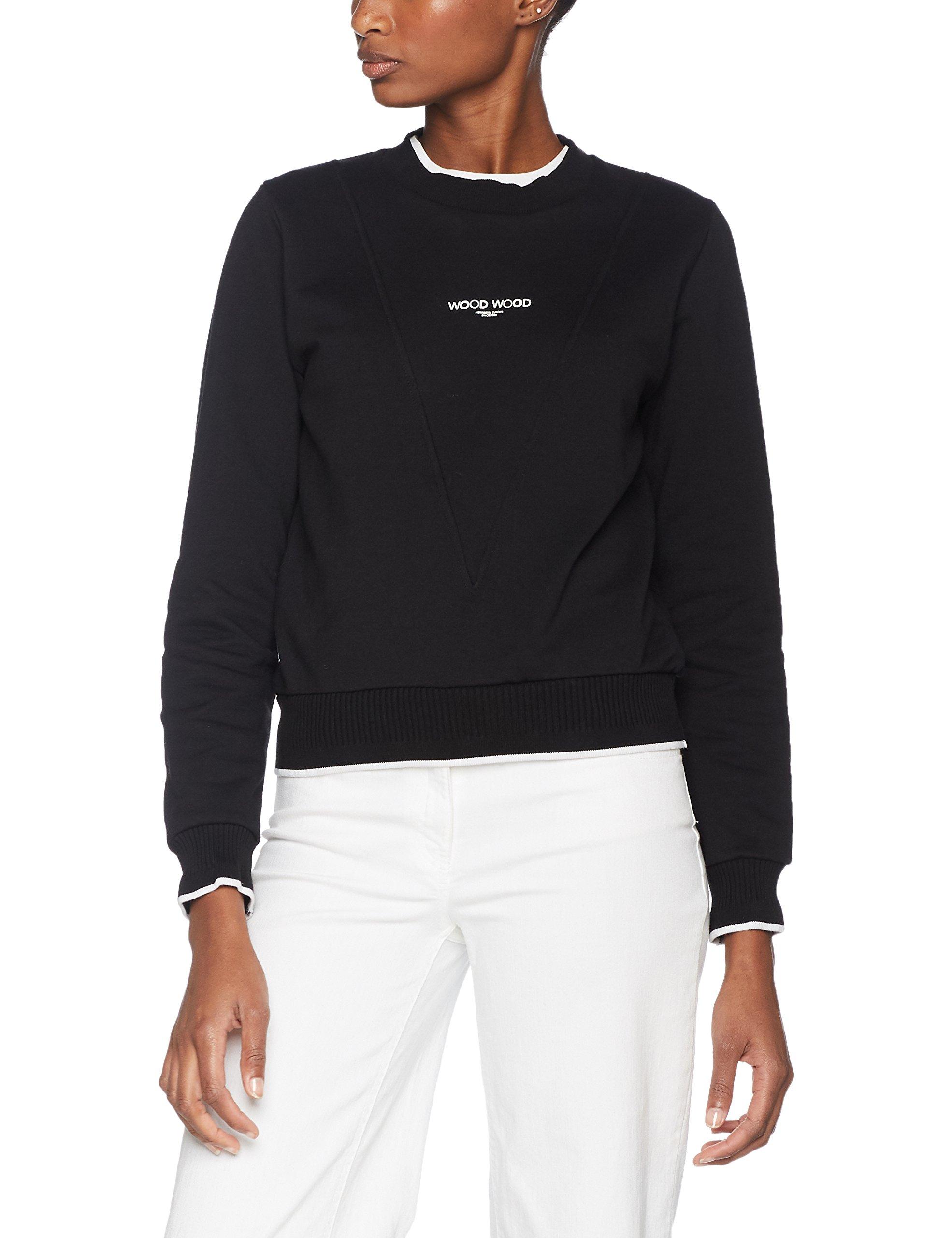 Sweatshirt Sweat Wood Mary shirtNoirblack8taille FabricantSmallFemme ann Y6fyb7g
