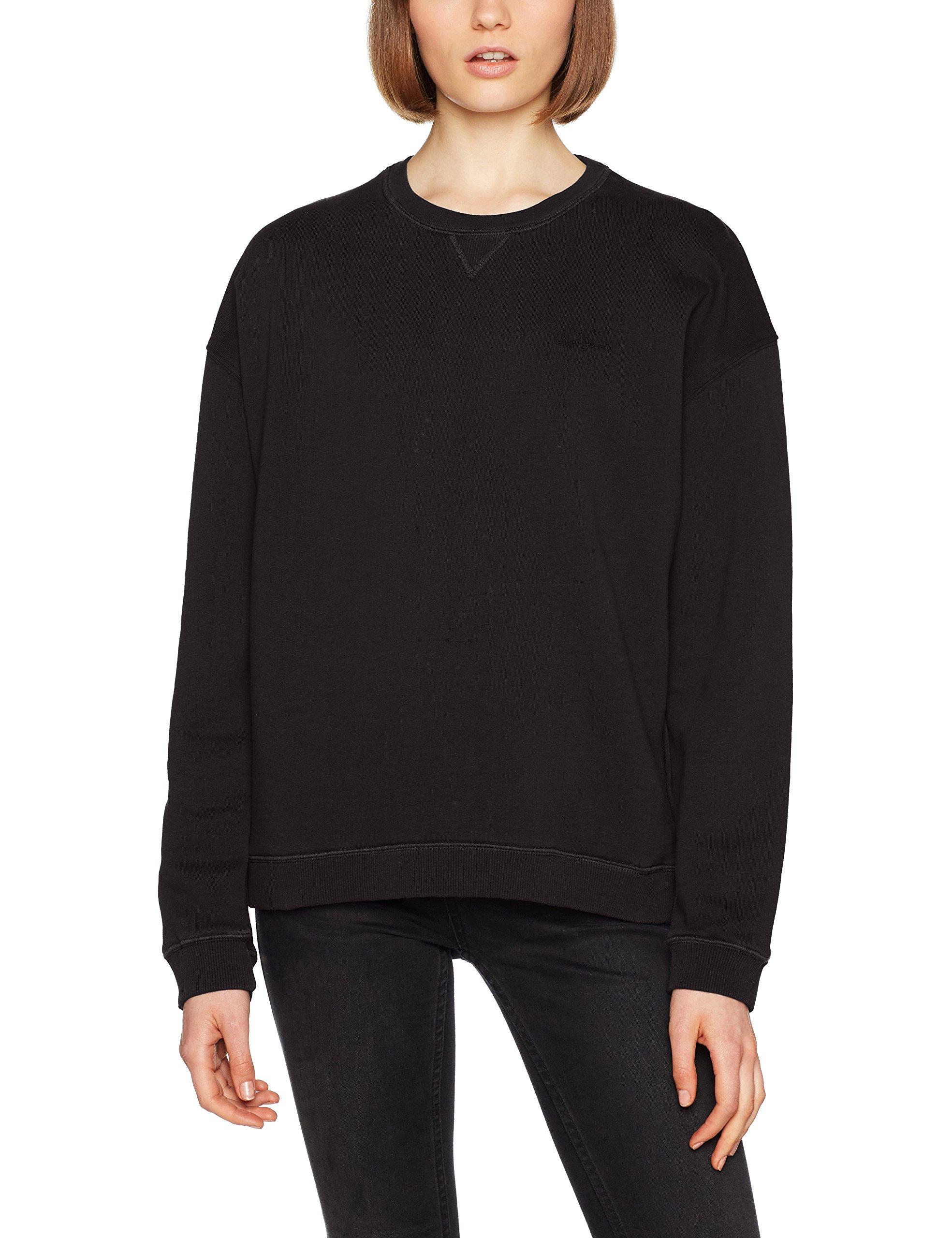 Jeans Pepe Femme xxs Neck Ladies NoirblackXx smalltaille Crew Fabricant shirt Sweat uFKc3TlJ51