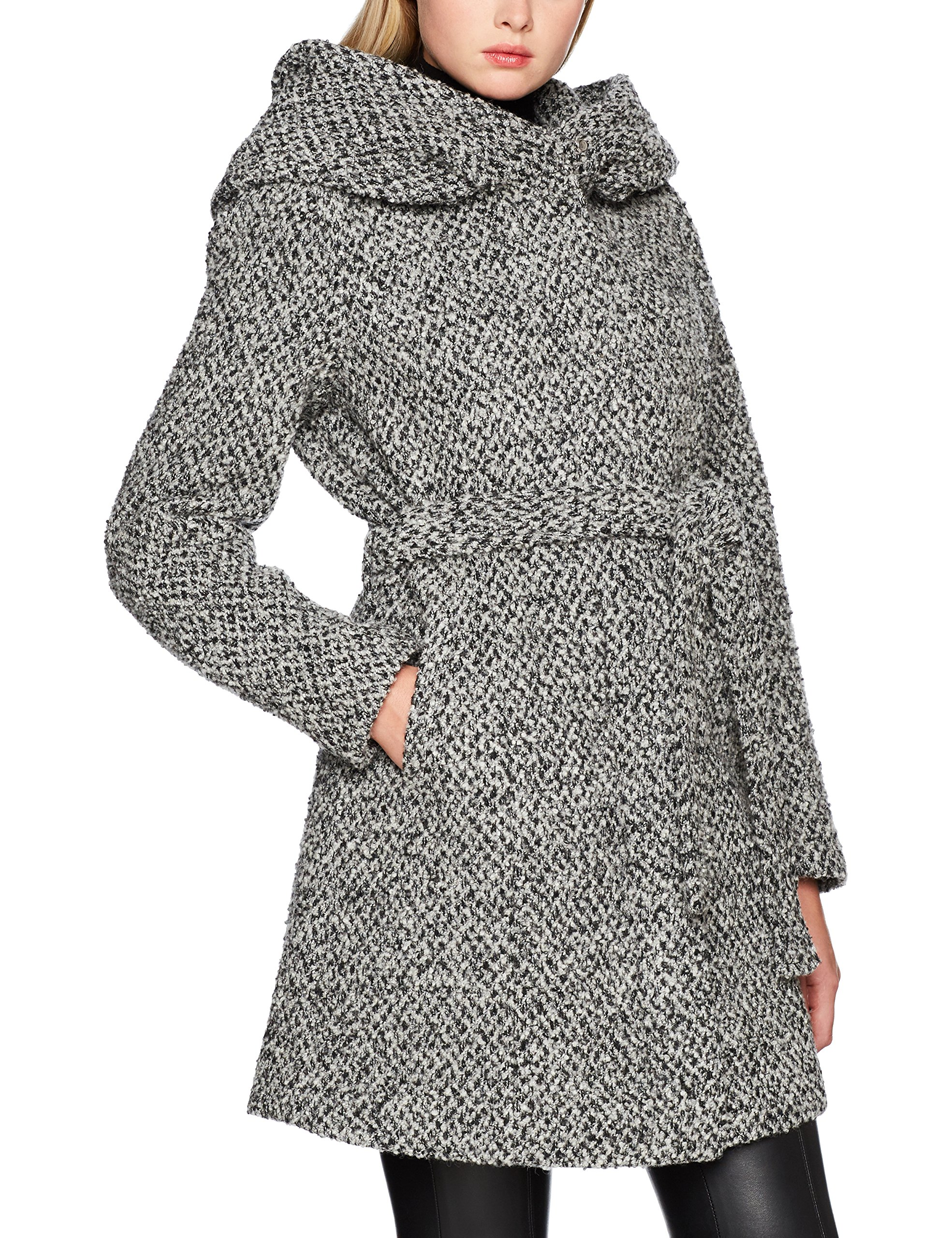 Vicama Wool Detail FabricantMediumFemme ManteauGrislight New Melange Vila noos Coat Grey black38taille Clothes 9IWYDEH2
