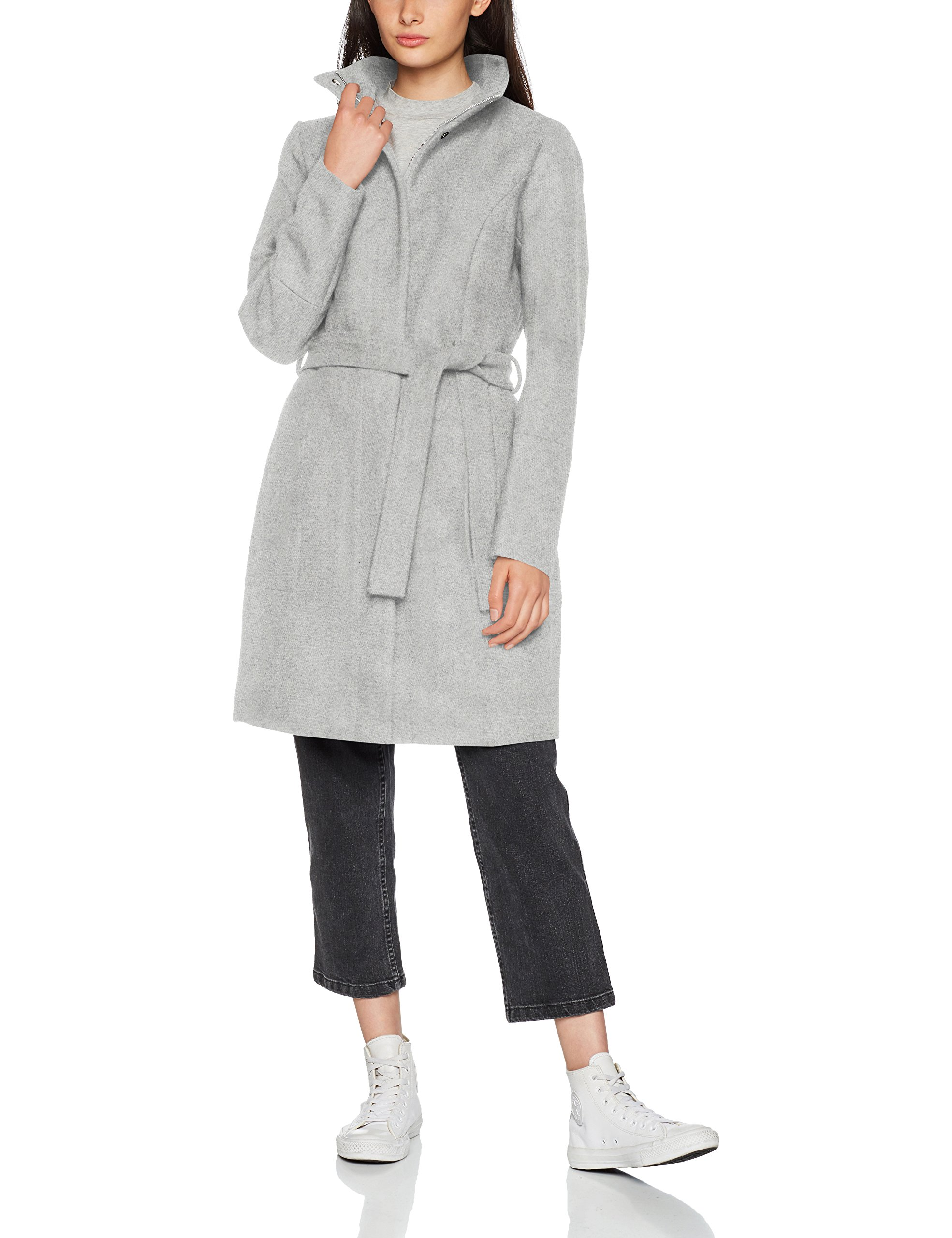 Clothes FabricantX Light noos ManteauGris Grey Vibee Vila Melange42taille Coat Wool largeFemme CxerodBW