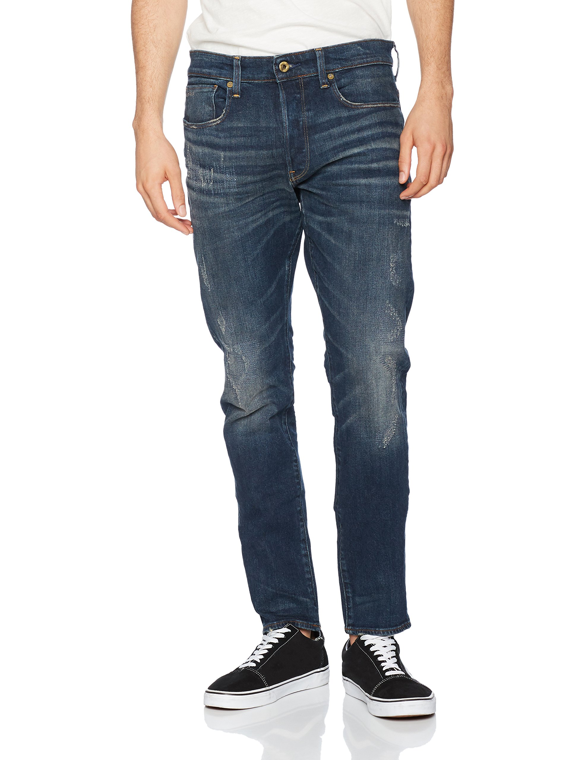 Aged star Raw 9116 641634w34l 3301 JeansBleumedium Restored Homme G Tapered' bfyvY6g7