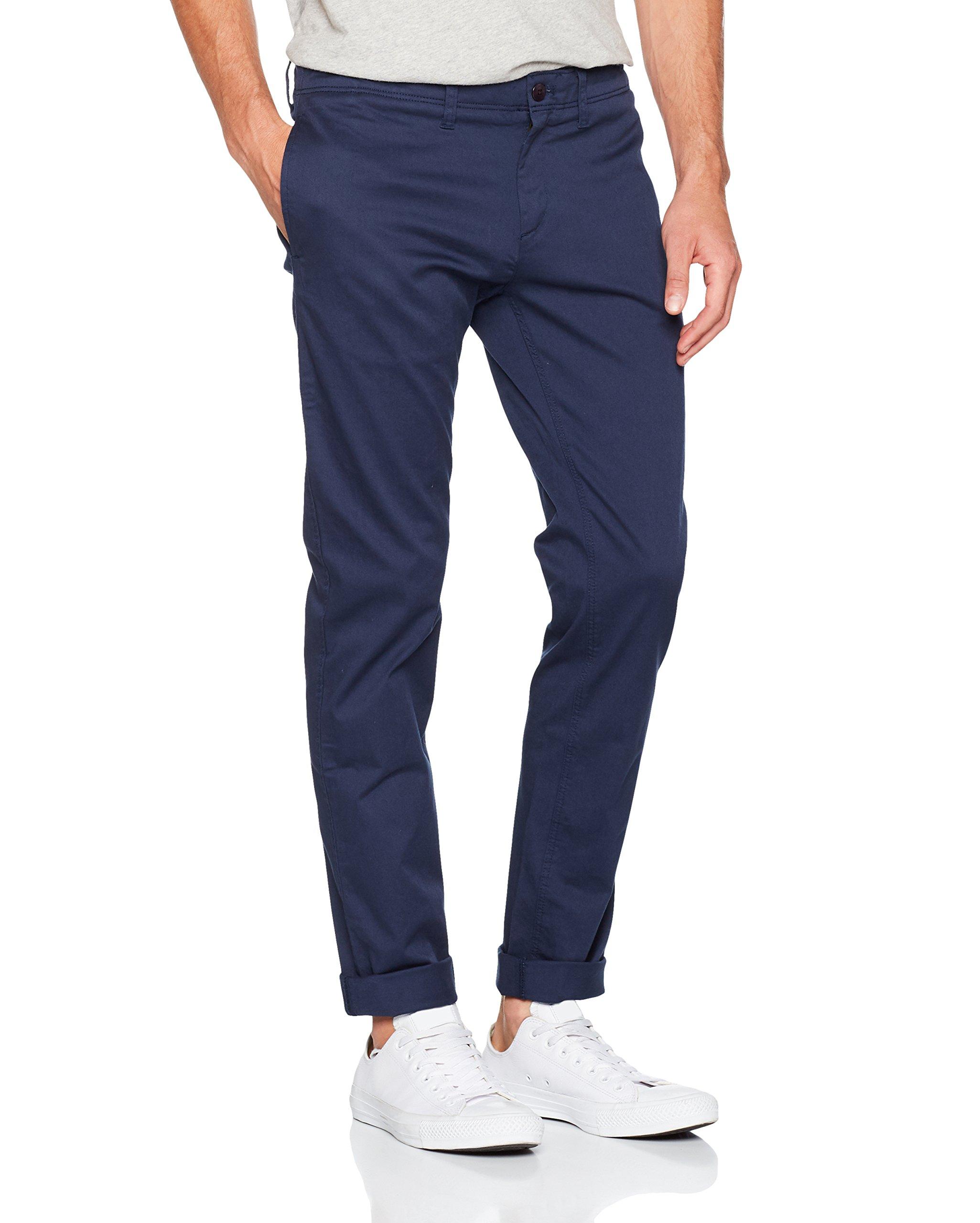Bleublack Chino Basic 002taille Str l34 Tommy Slim Jeans Homme FabricantW32 Pantalon Iris WYE29IDH