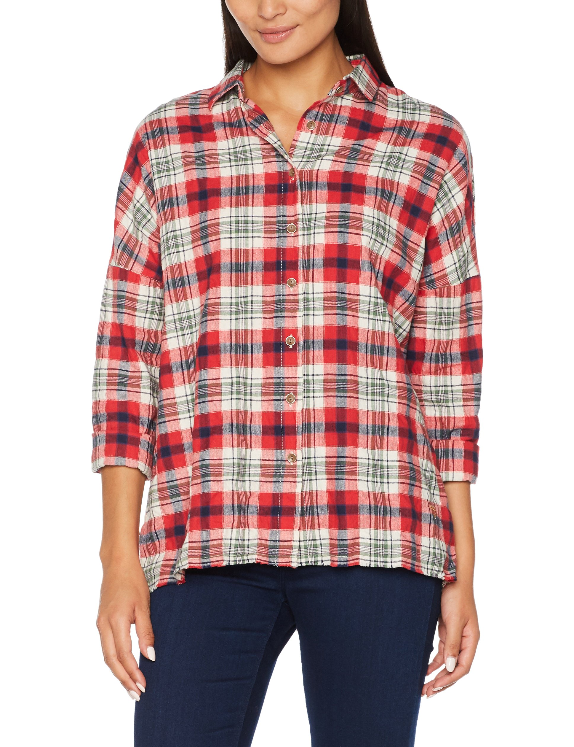 Checked 521540 Timezone Check Logger Femme BlouseRotred 92WDIEH