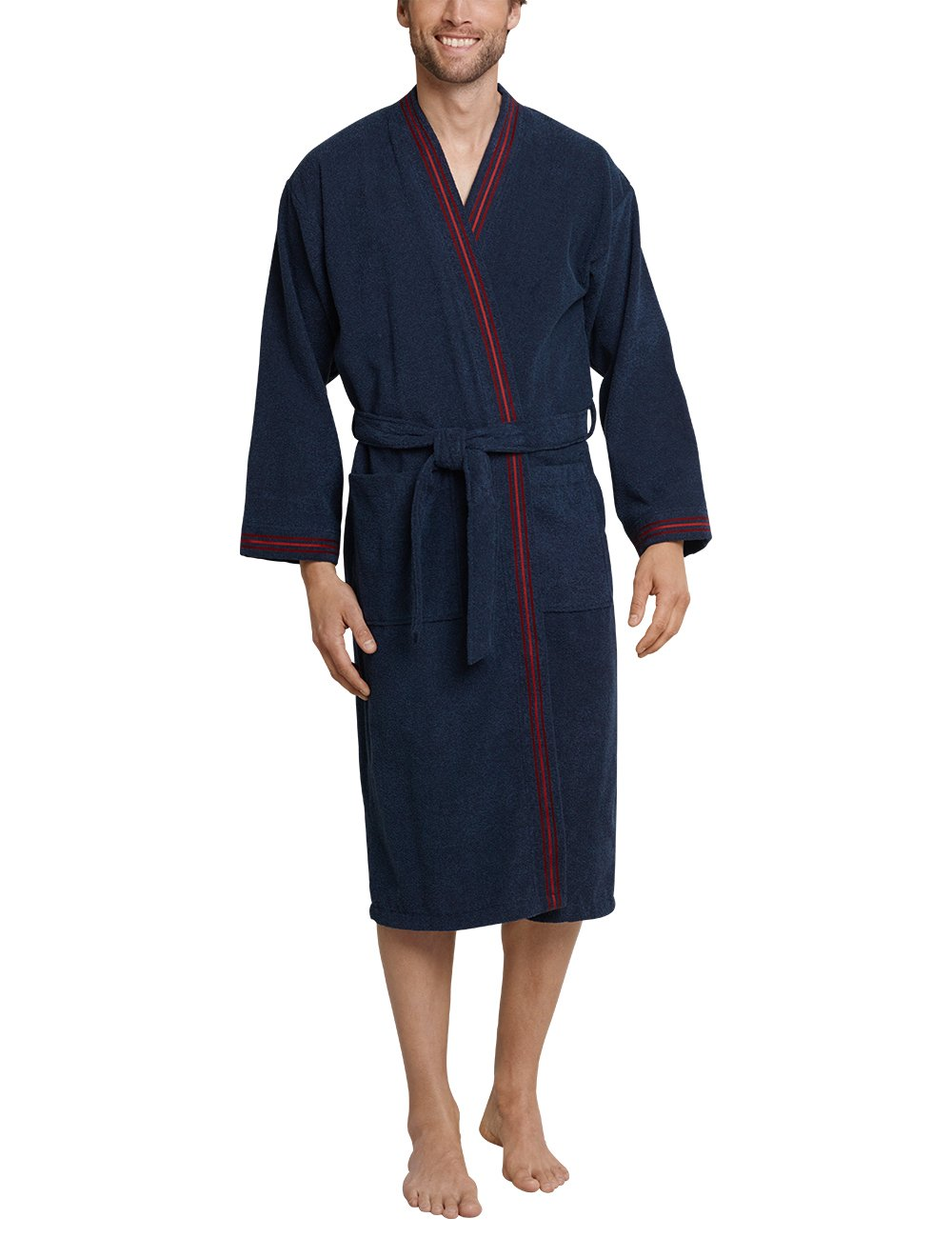 Schiesser Bademantel ChambreBleudunkelblau Du mel818Xx Fabricant056Homme Robe De largetaille cK1JlF